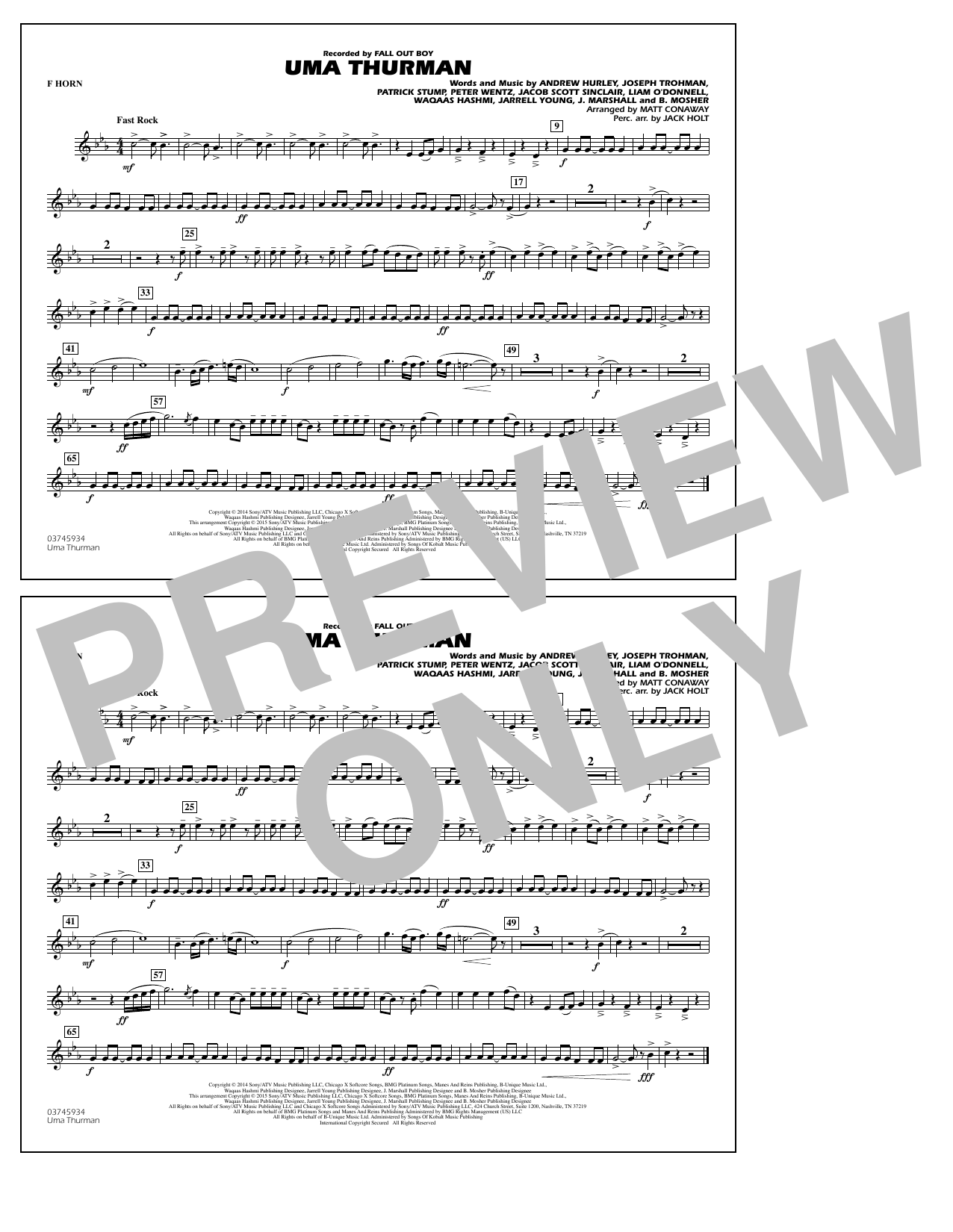 Uma Thurman - F Horn (Marching Band)