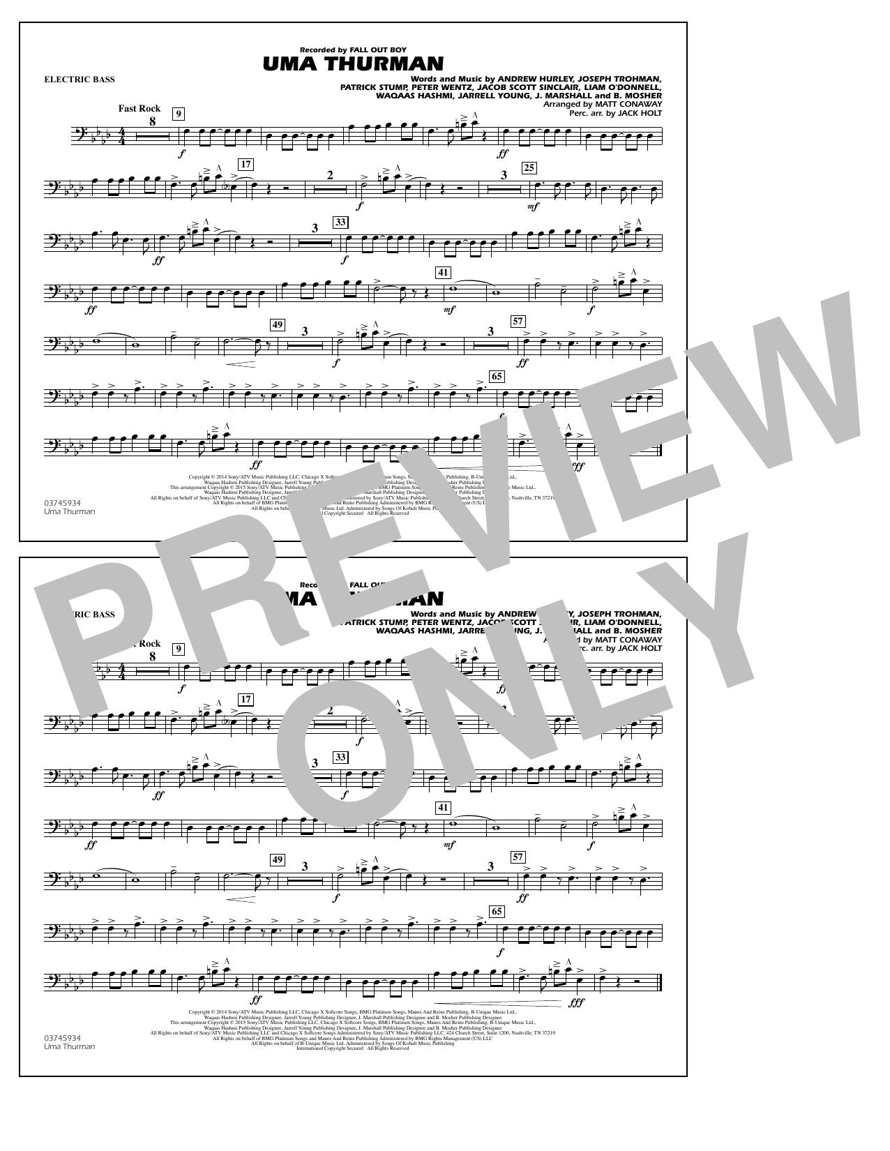 Uma Thurman - Electric Bass (Marching Band)