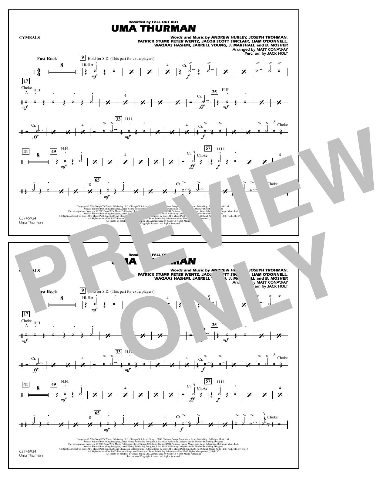 Uma Thurman - Cymbals (Marching Band)