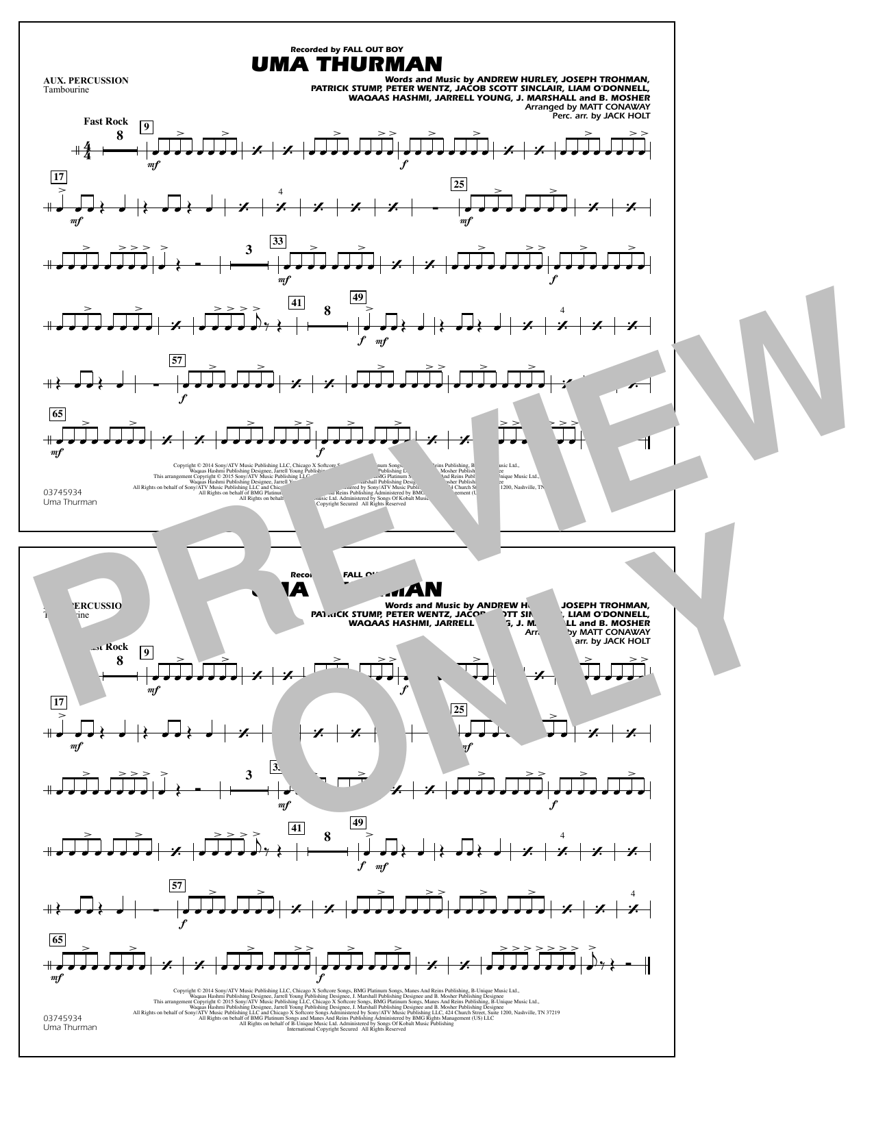 Uma Thurman - Aux Percussion (Marching Band)