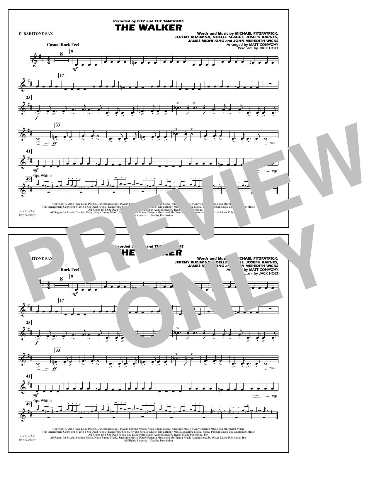 The Walker - Eb Baritone Sax (Marching Band)