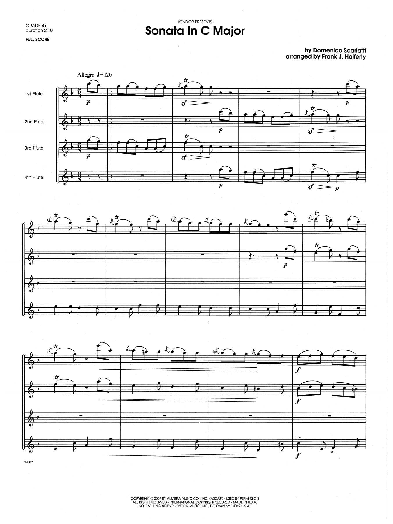 Sonata in C Major - Full Score Sheet Music