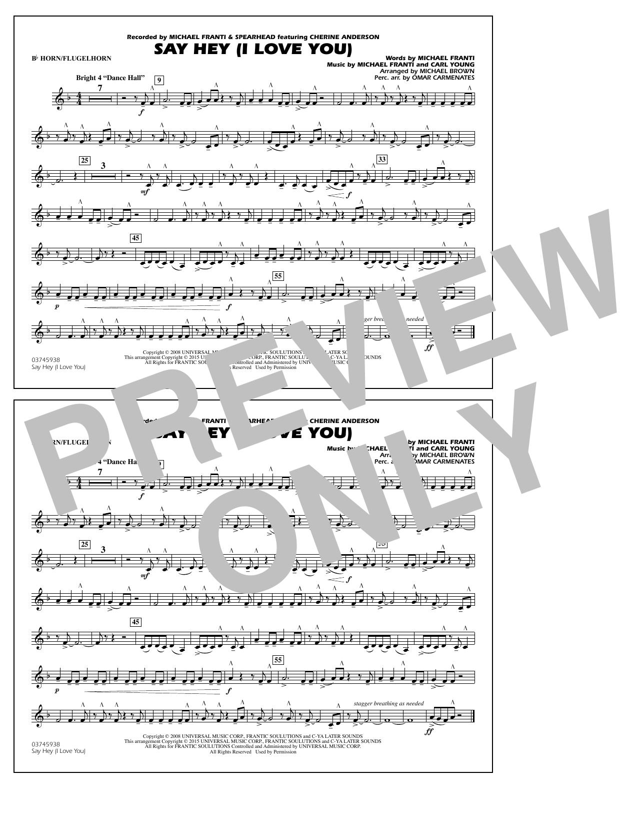 Say Hey (I Love You) - Bb Horn/Flugelhorn (Marching Band)