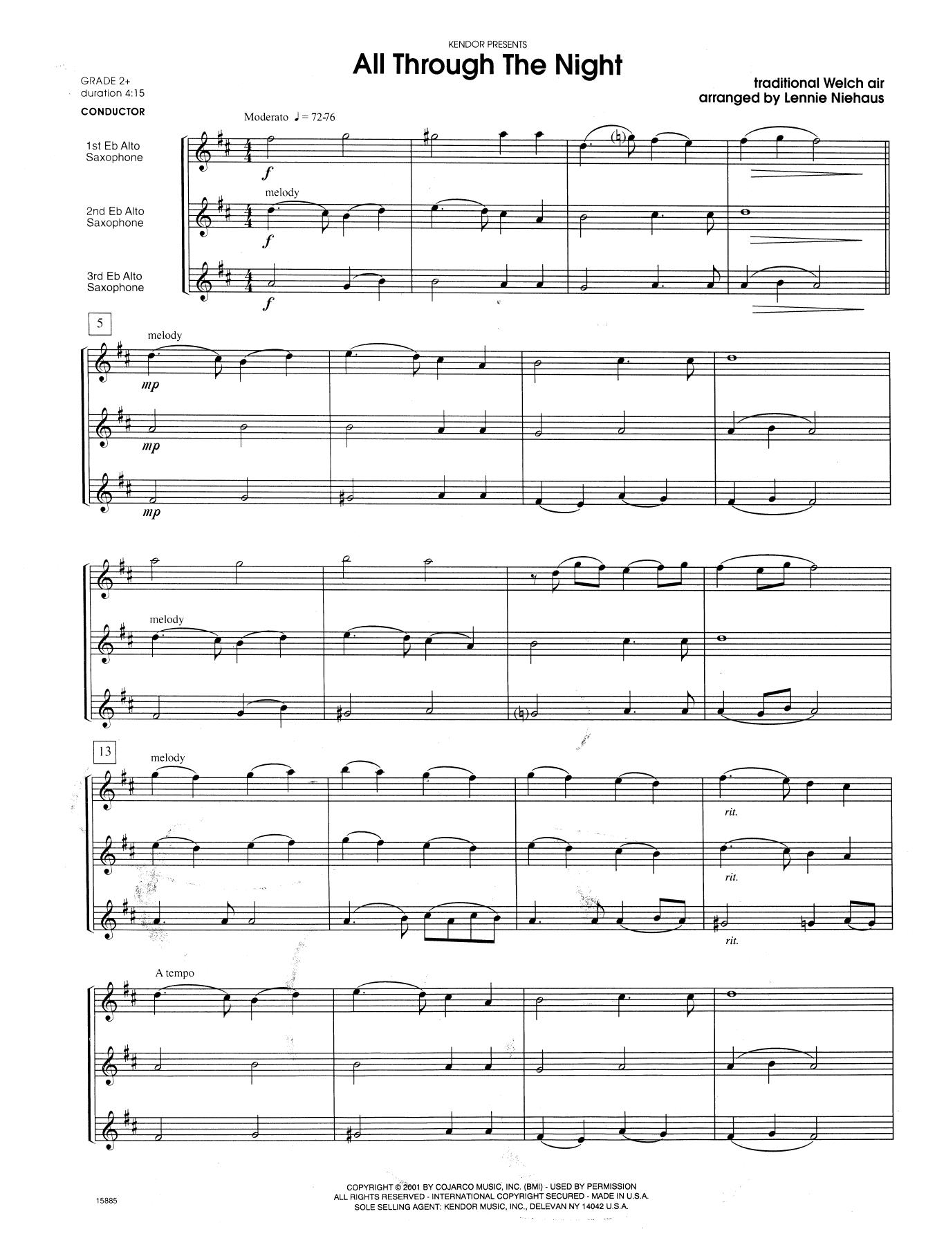All Through the Night - Full Score Sheet Music