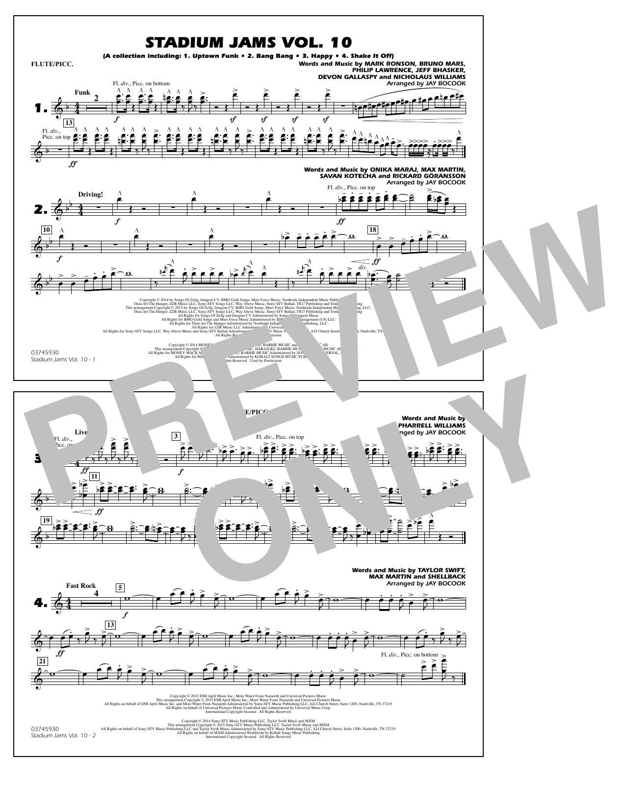 Stadium Jams Vol. 10 - Flute/Piccolo (Marching Band)