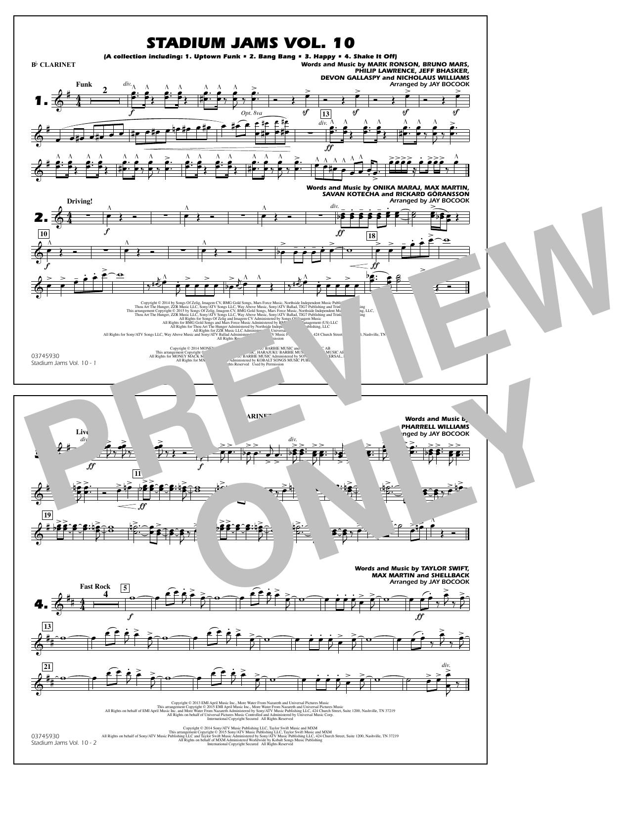 Stadium Jams Vol. 10 - Bb Clarinet (Marching Band)