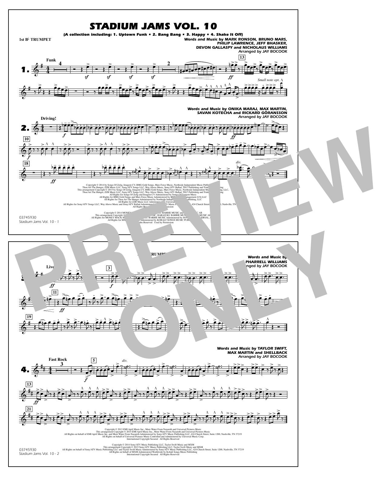 Stadium Jams Vol. 10 - 1st Bb Trumpet (Marching Band)