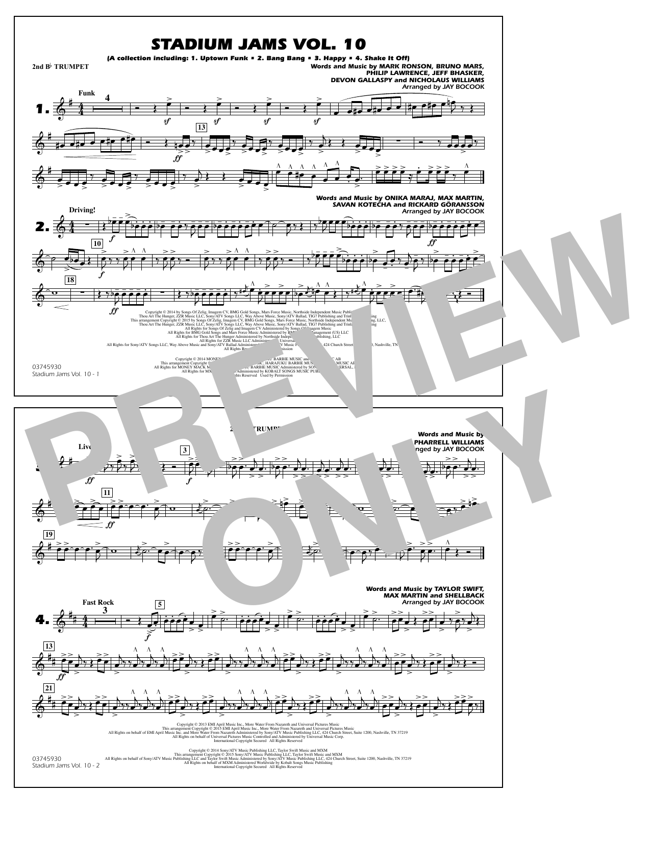 Stadium Jams Vol. 10 - 2nd Bb Trumpet (Marching Band)