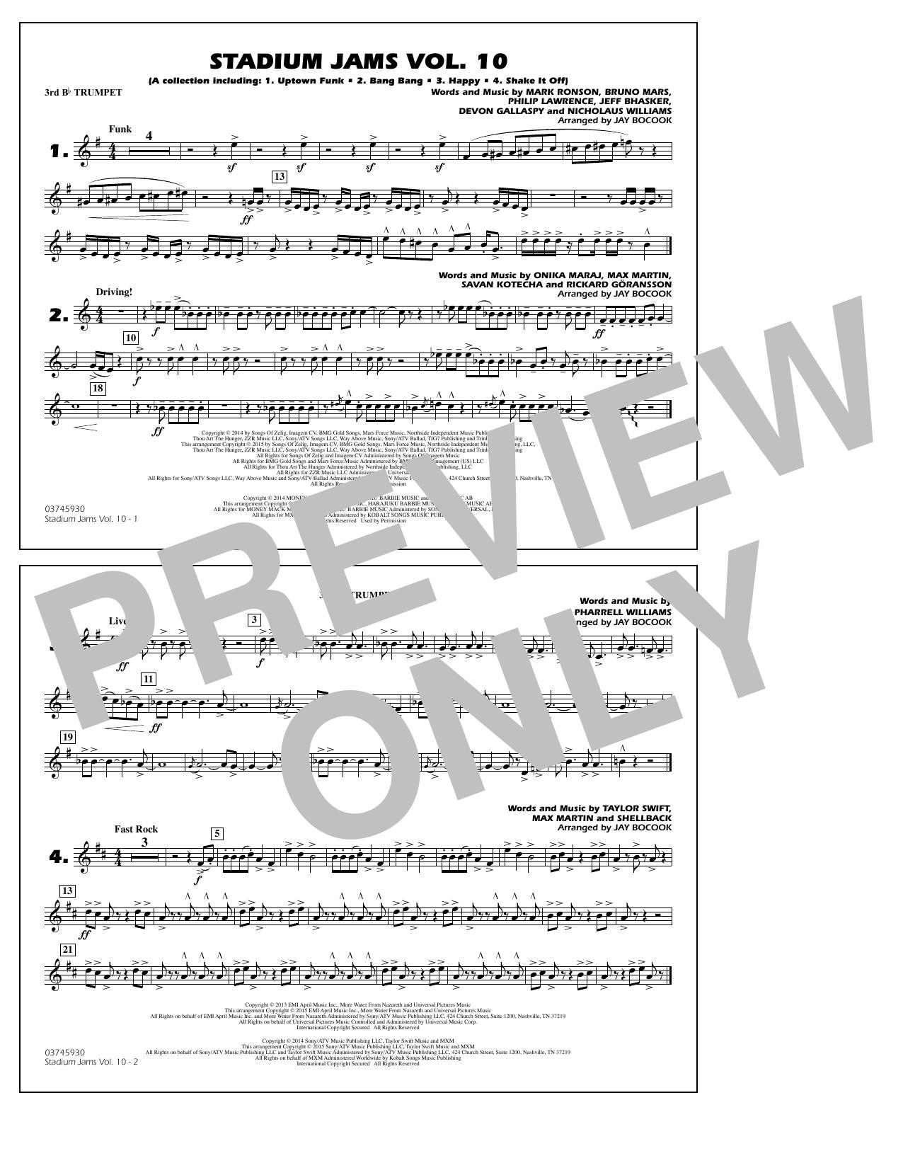 Stadium Jams Vol. 10 - 3rd Bb Trumpet (Marching Band)
