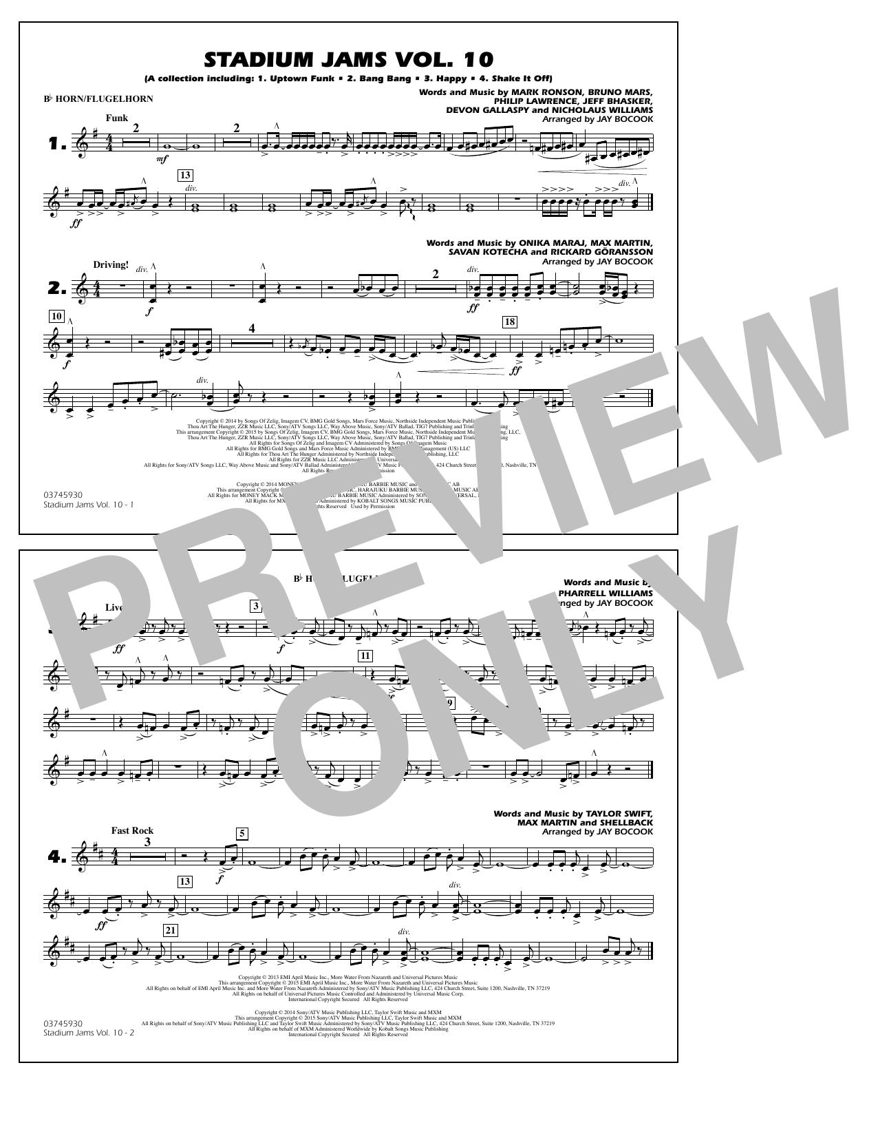 Stadium Jams Vol. 10 - Bb Horn/Flugelhorn (Marching Band)