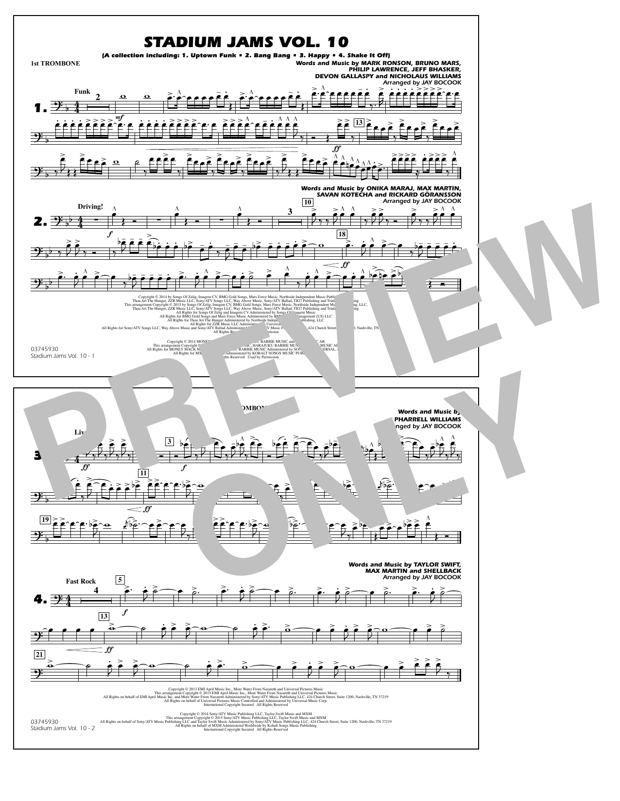 Stadium Jams Vol. 10 - 1st Trombone (Marching Band)