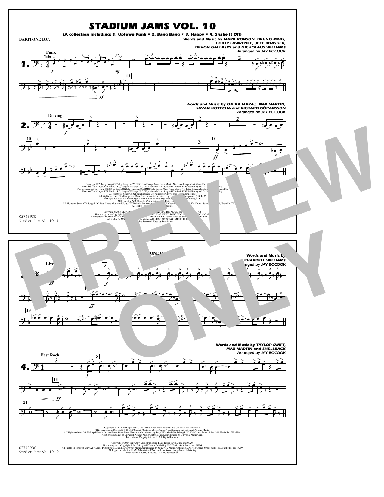 Stadium Jams Vol. 10 - Baritone B.C. (Marching Band)