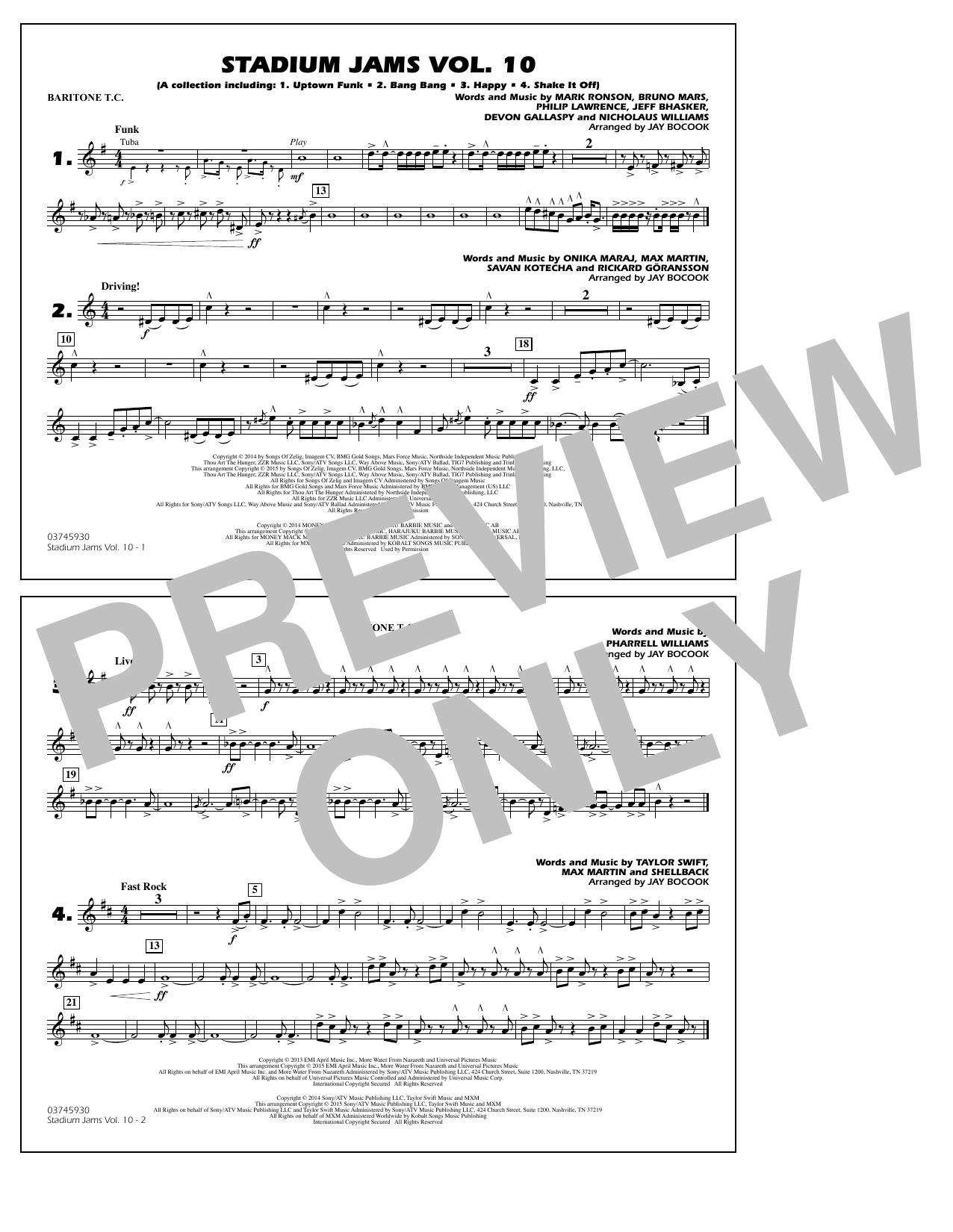 Stadium Jams Vol. 10 - Baritone T.C. (Marching Band)
