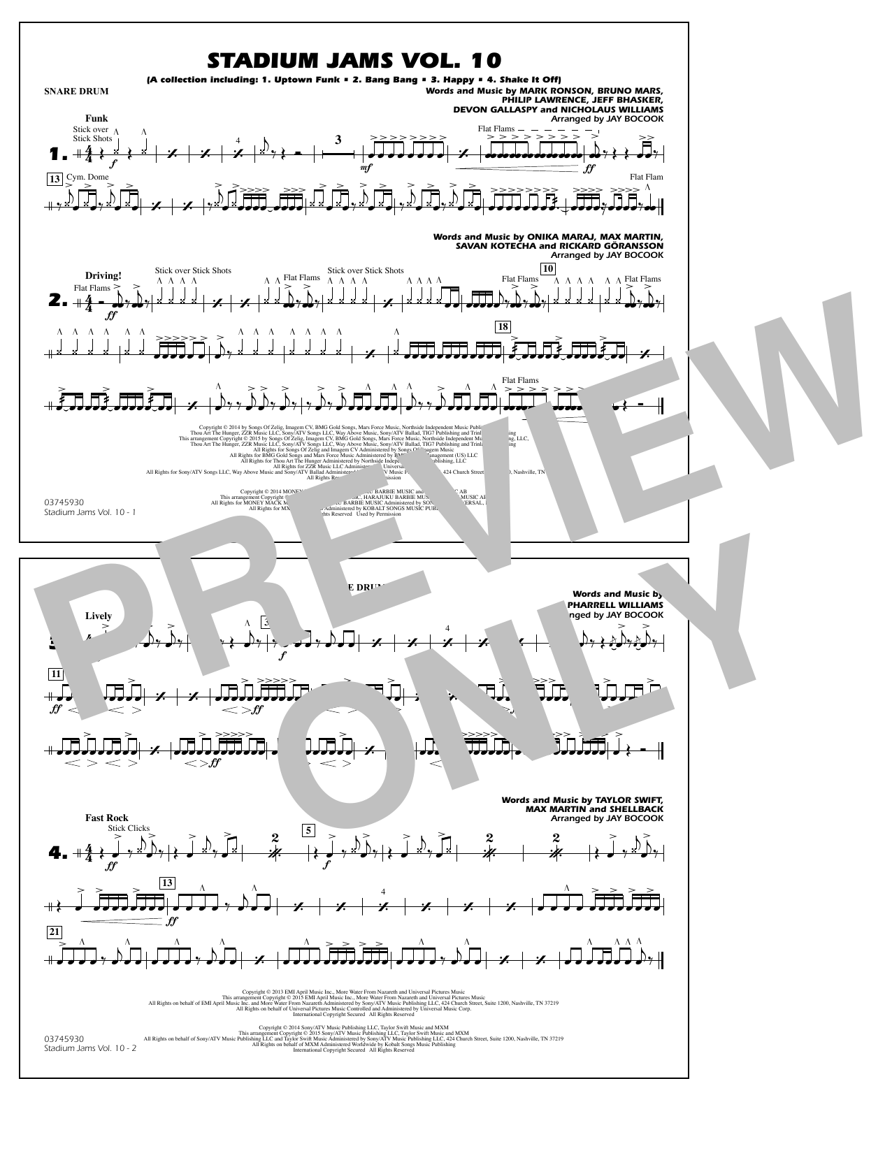 Stadium Jams Vol. 10 - Snare Drum (Marching Band)