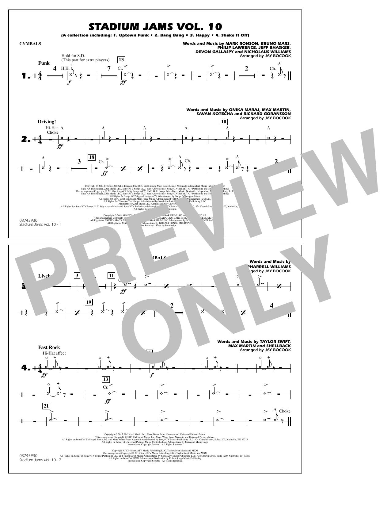 Stadium Jams Vol. 10 - Cymbals (Marching Band)