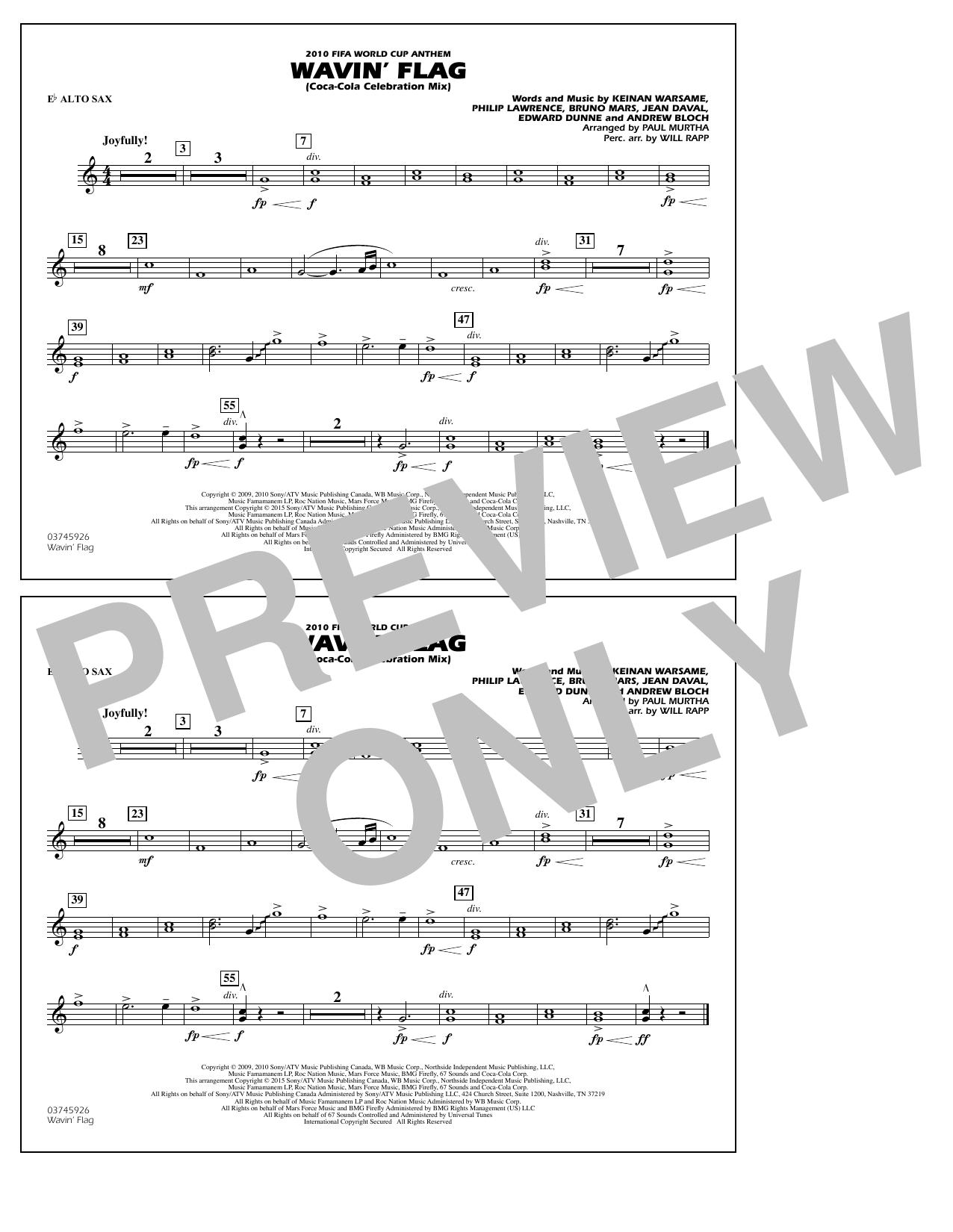 Wavin' Flag - Eb Alto Sax atStanton's Sheet Music