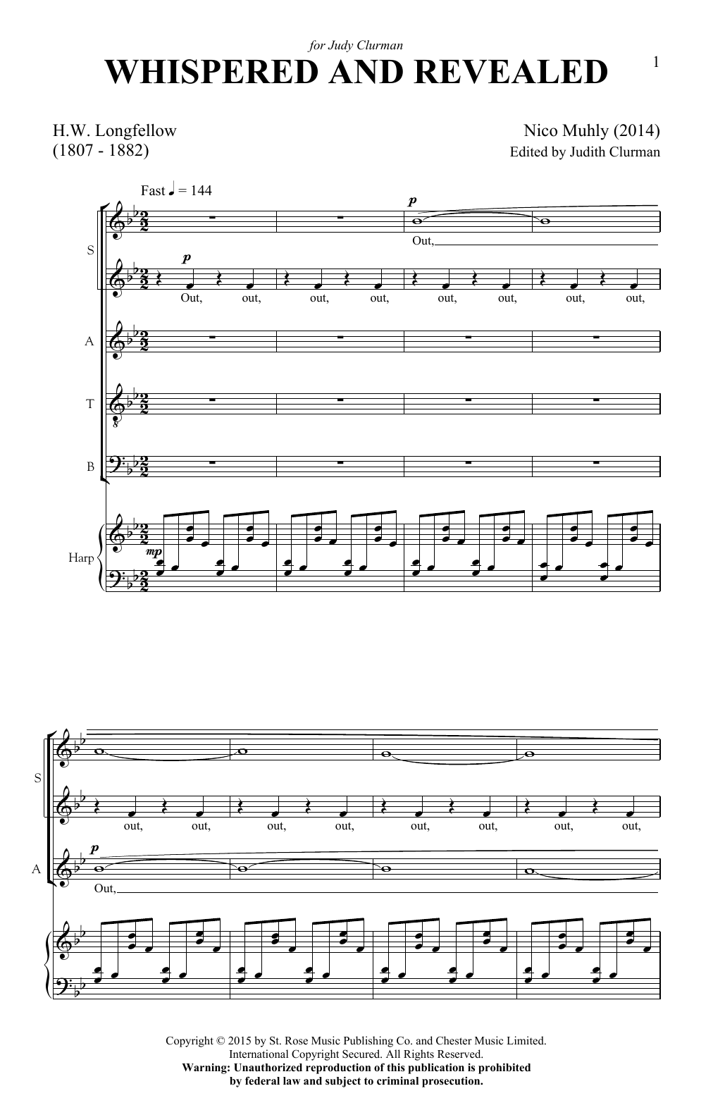 Whispered And Revealed Sheet Music