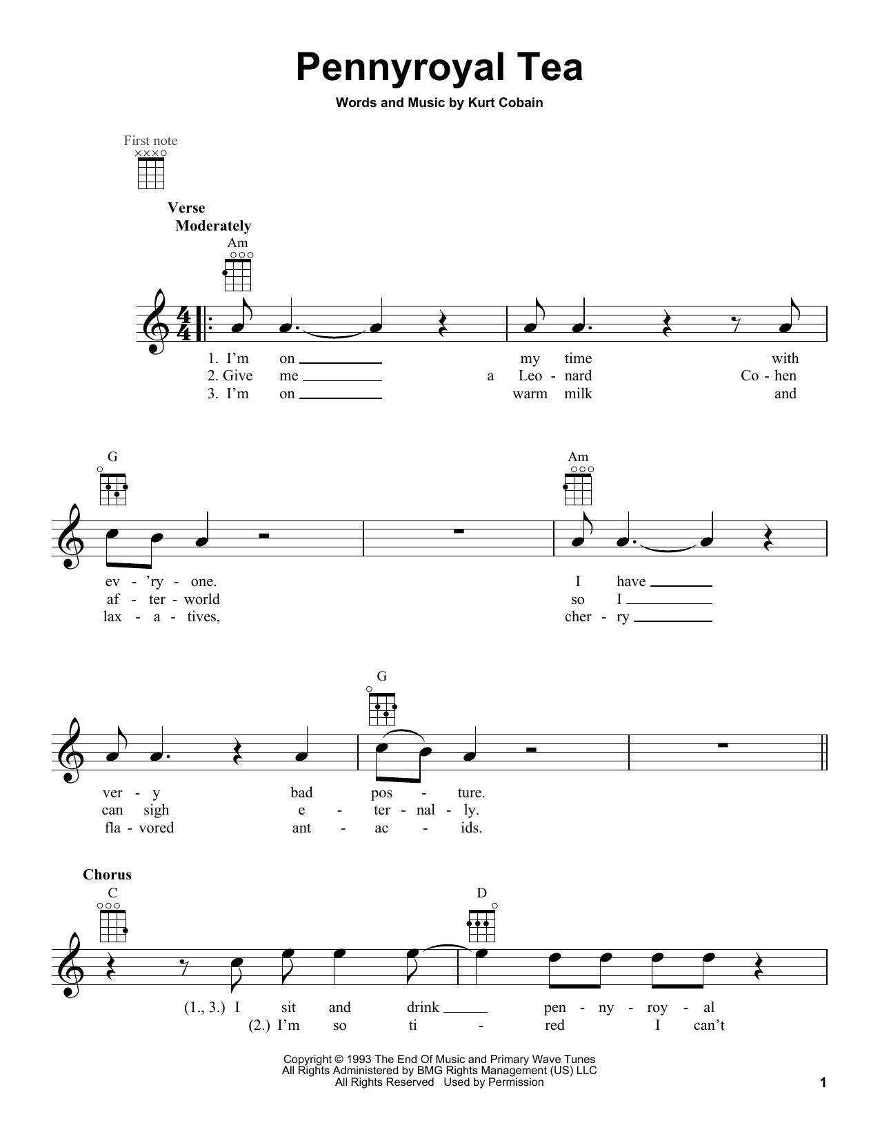 Pennyroyal Tea Sheet Music
