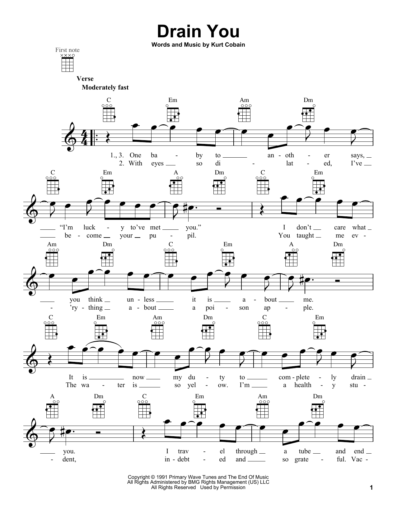 Drain you sheet music direct sheet preview drain you hexwebz Images