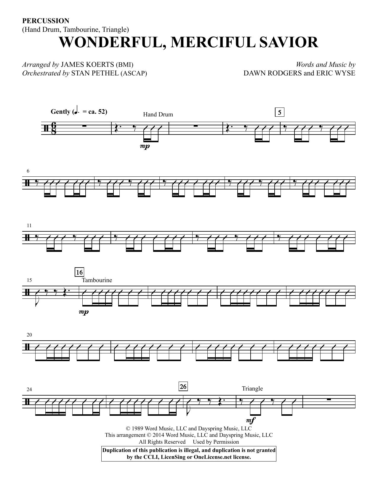 Wonderful, Merciful Savior - Percussion Sheet Music