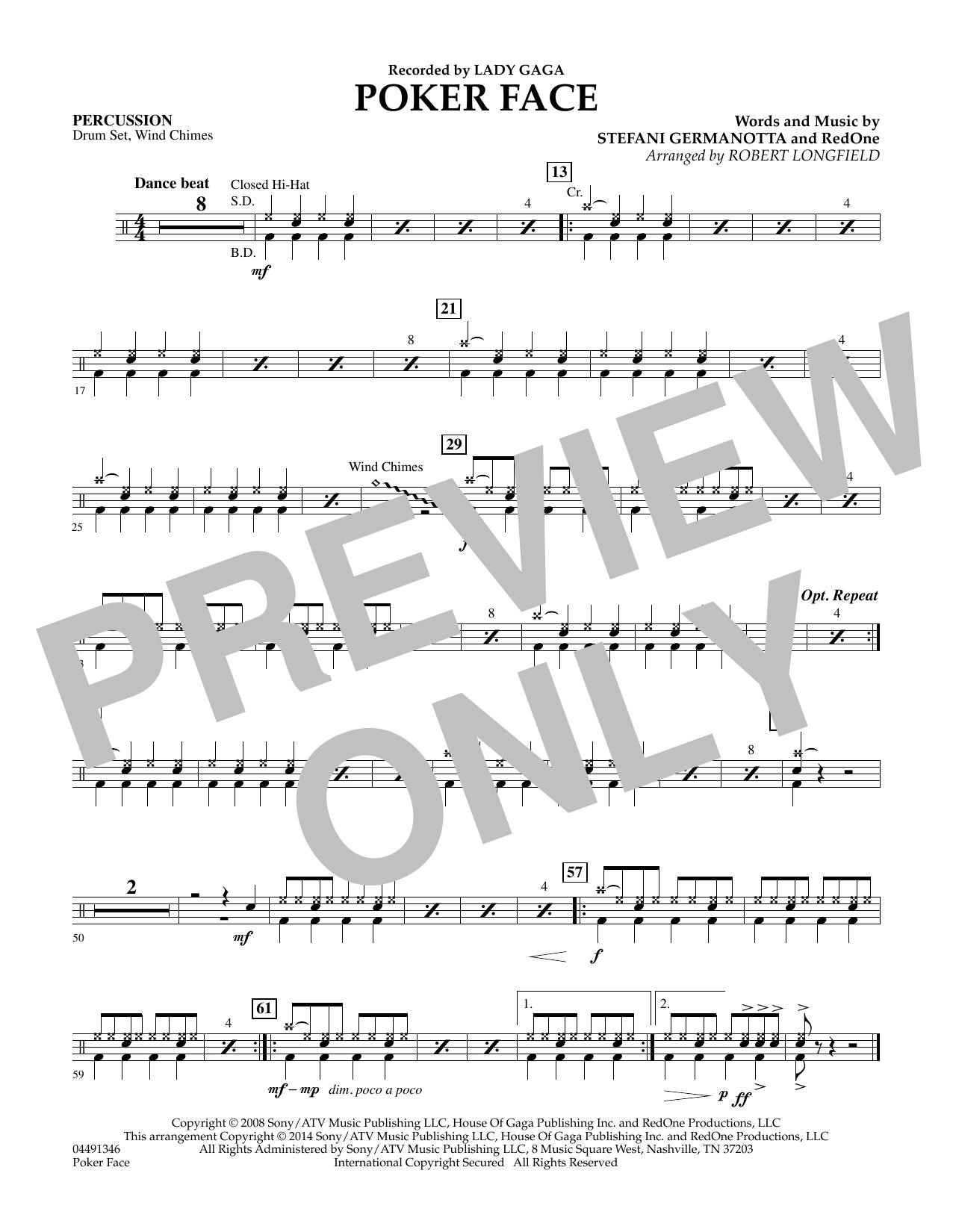Poker Face - Percussion (Orchestra)