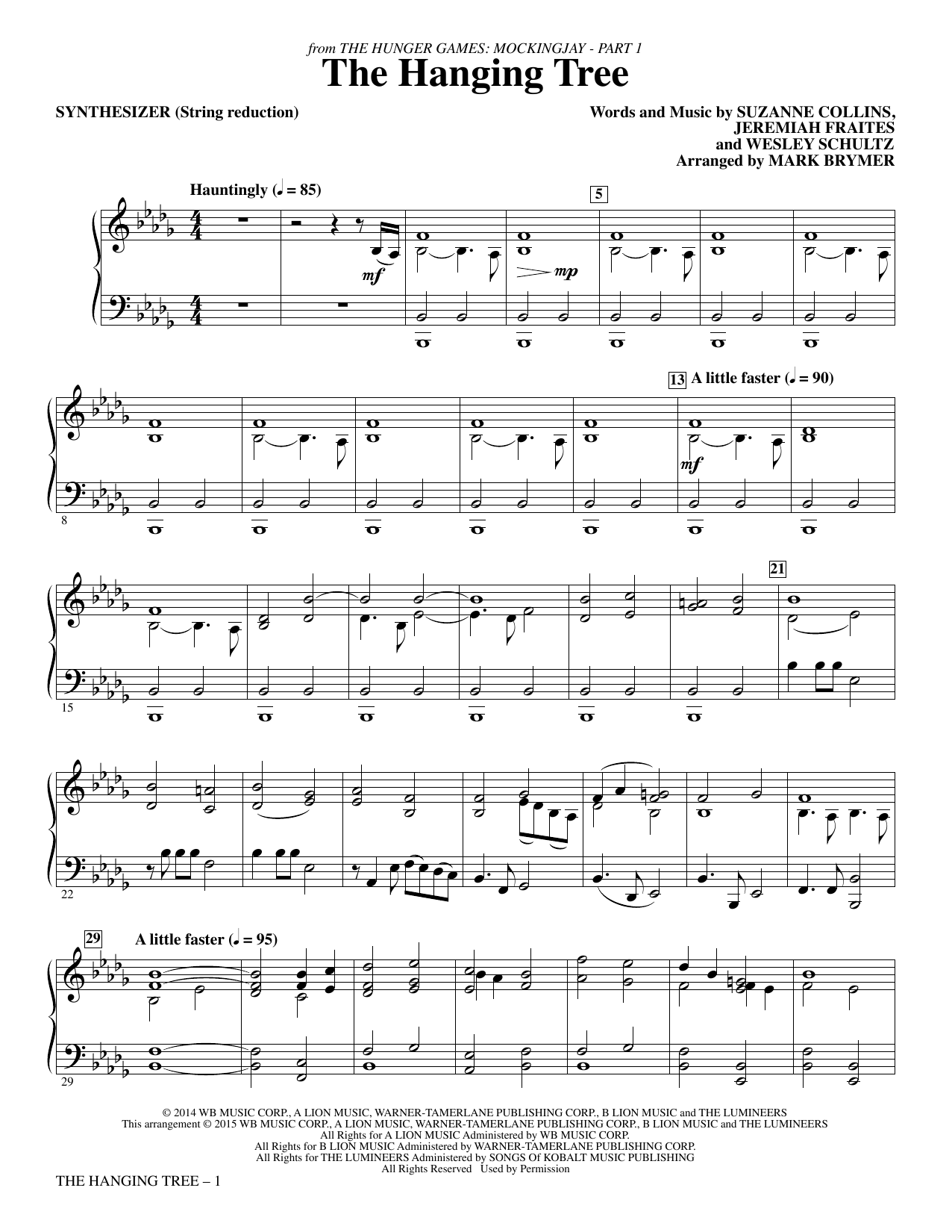 The Hanging Tree (from The Hunger Games: Mockingjay Part I) - Synthesizer (Choir Instrumental Pak)