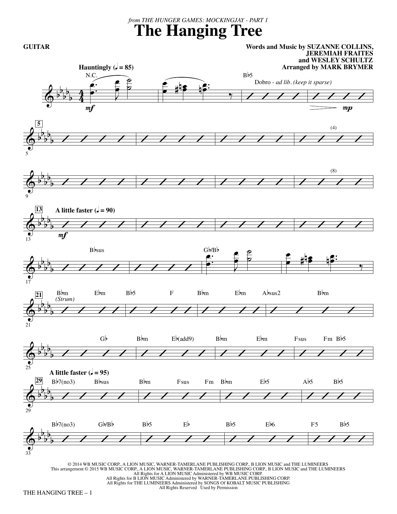 The Hanging Tree (from The Hunger Games: Mockingjay Part I) - Guitar (Choir Instrumental Pak)