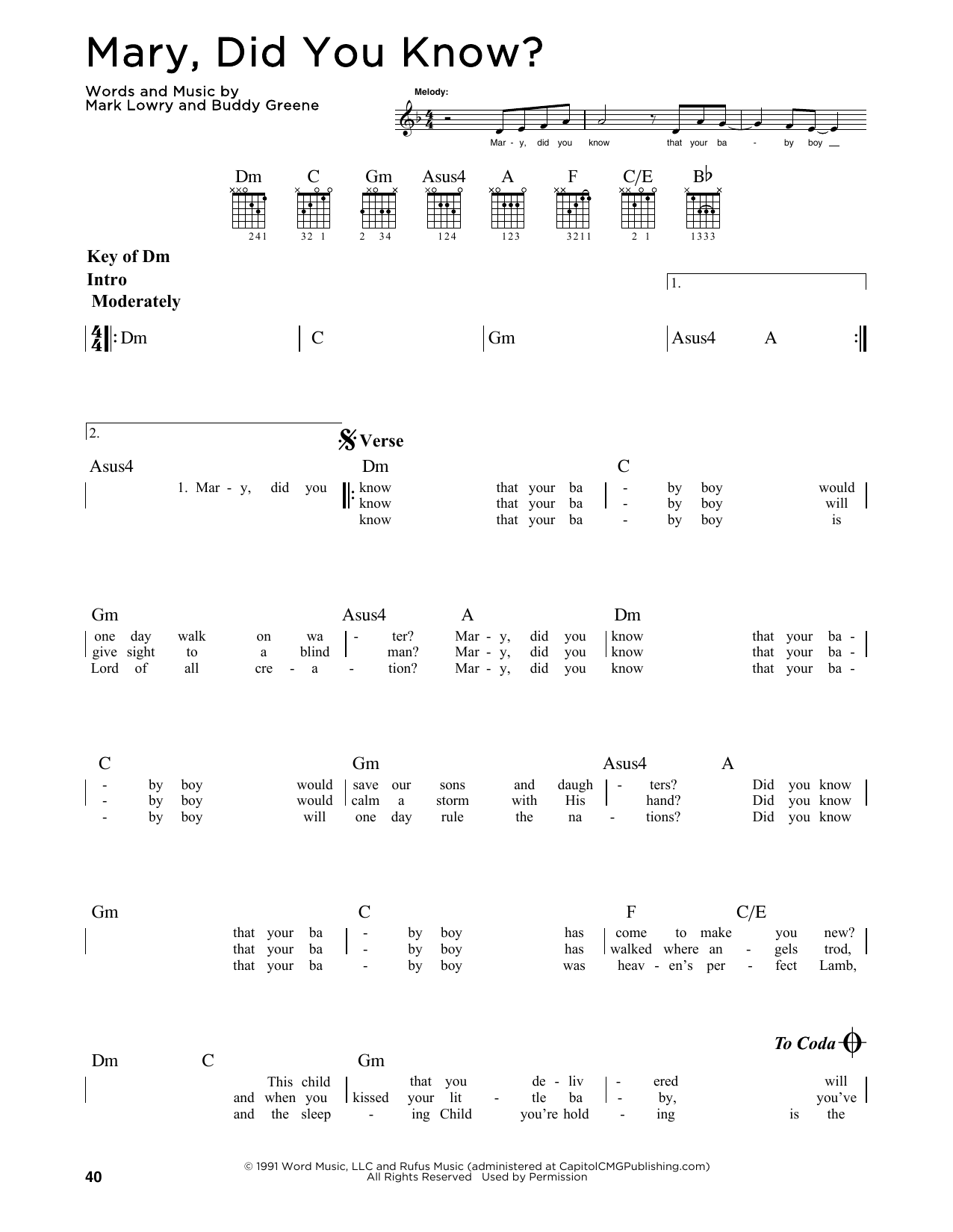 picture regarding Mary Did You Know Lyrics Printable identified as Mary, Did Yourself Comprehend? as a result of Mark Lowry - Guitar Direct Sheet