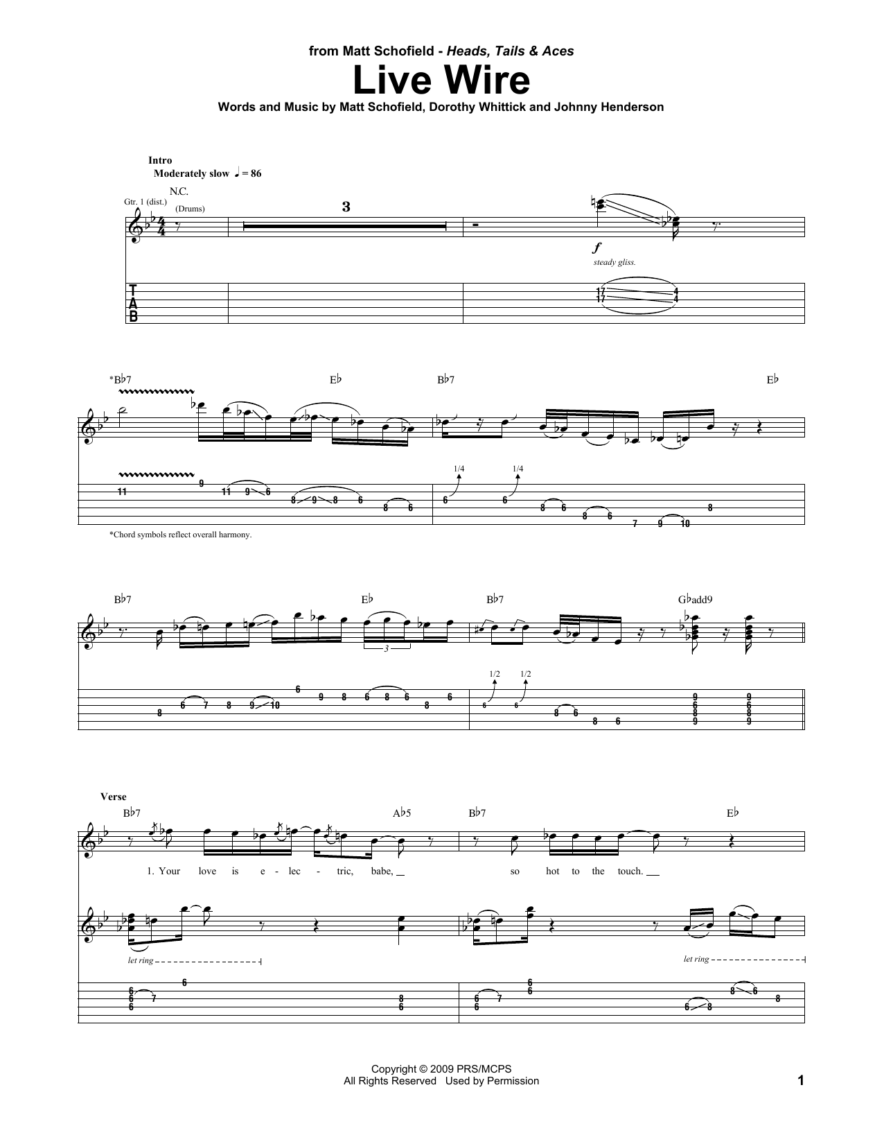 Live Wire (Guitar Tab)