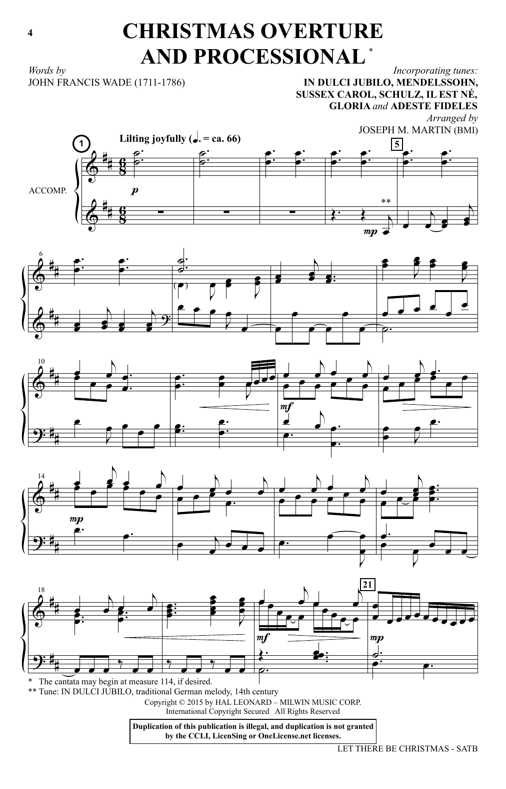 Let There Be Christmas Sheet Music