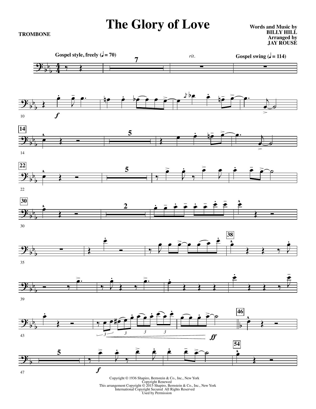The Glory of Love - Trombone Sheet Music
