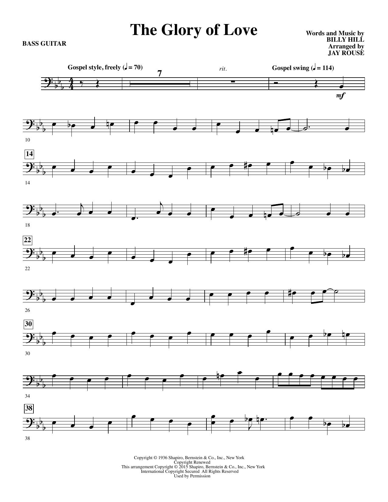 The Glory of Love - Bass Sheet Music