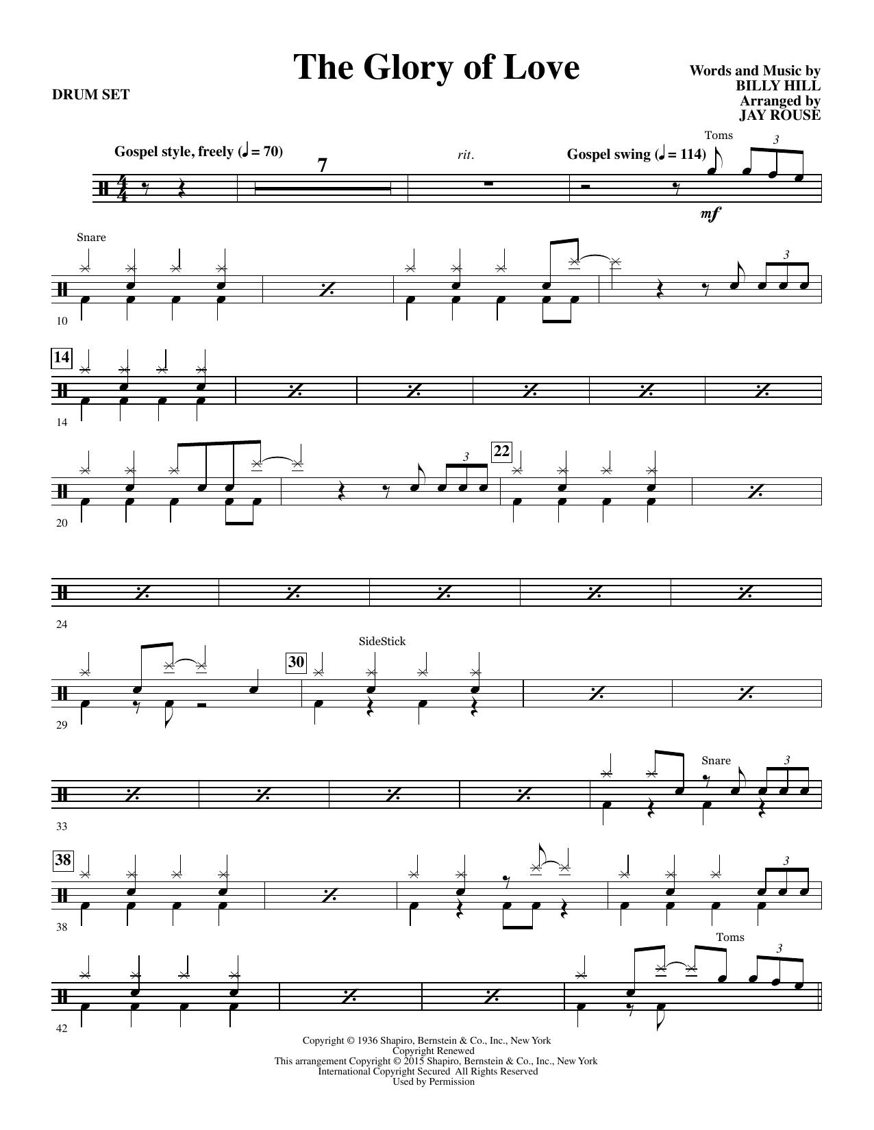 The Glory of Love - Drum Set Sheet Music