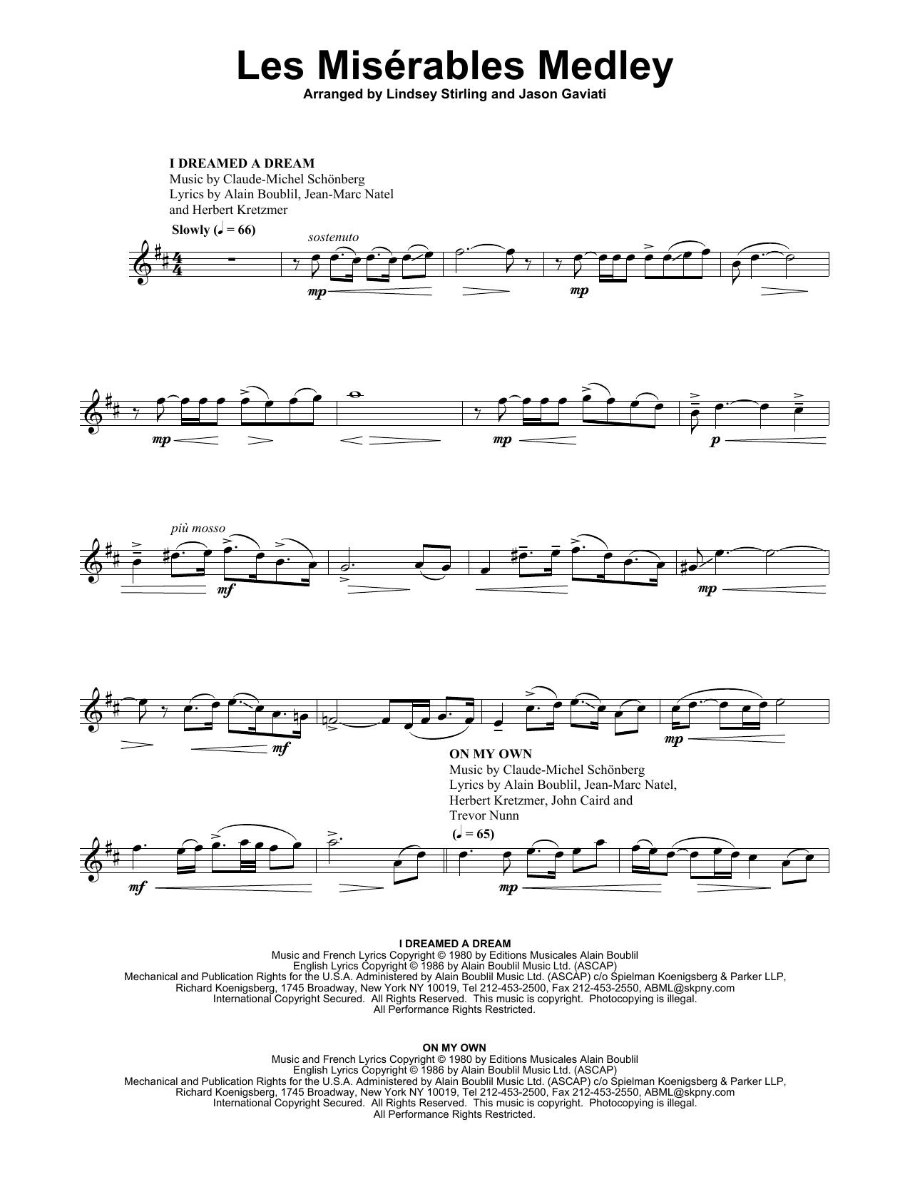 Les Misérables Medley (Violin Solo)