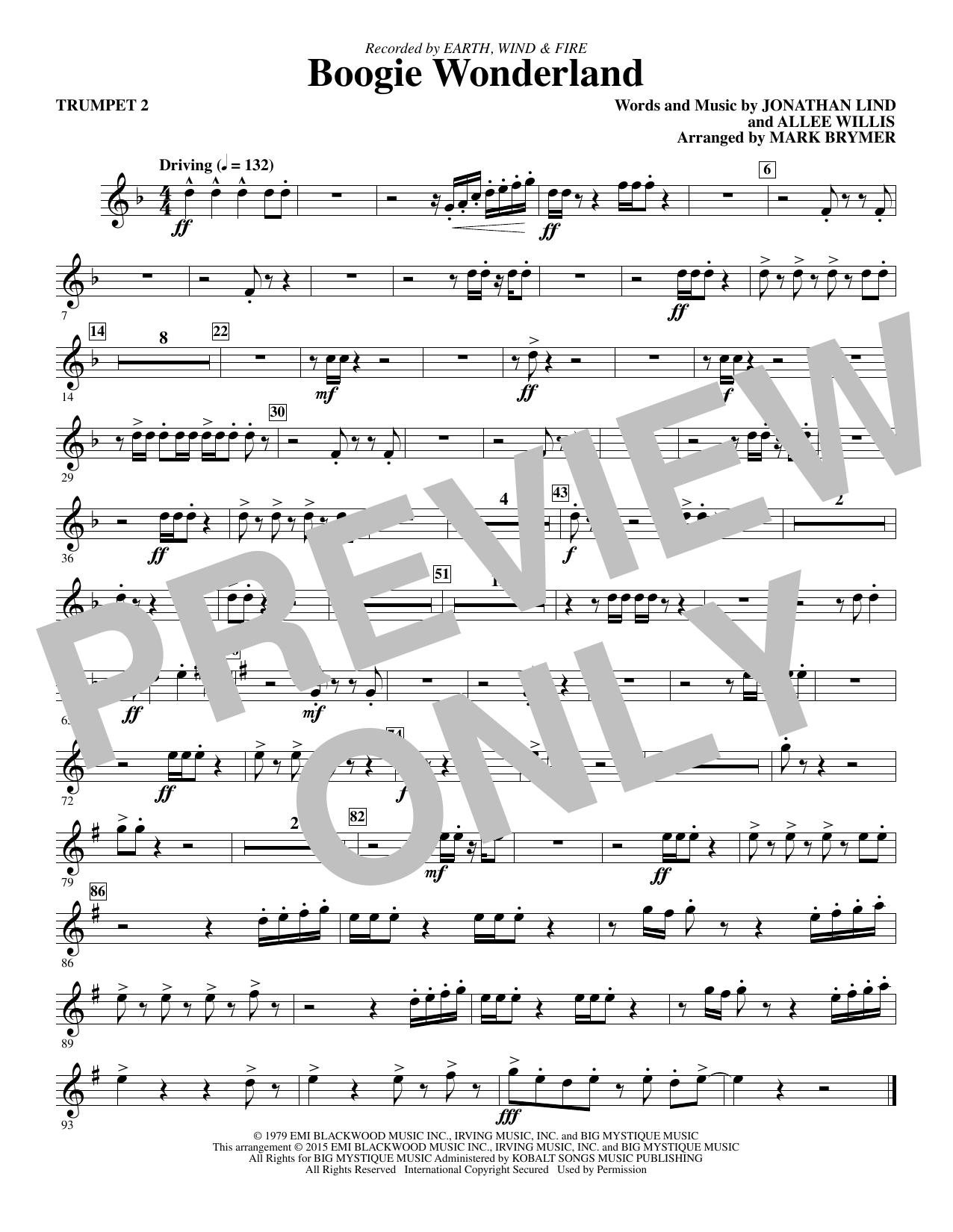 Boogie Wonderland - Bb Trumpet 2 (Choir Instrumental Pak)