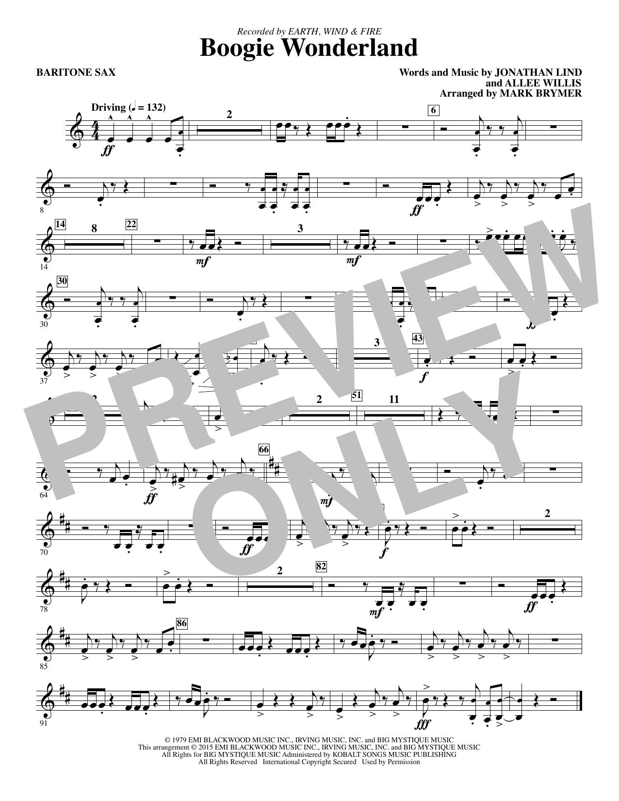 Boogie Wonderland - Baritone Sax (Choir Instrumental Pak)