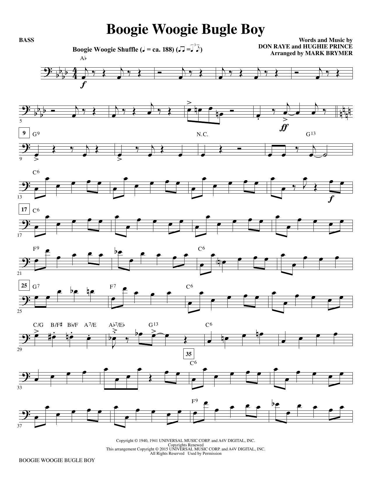 Boogie Woogie Bugle Boy - Bass Sheet Music