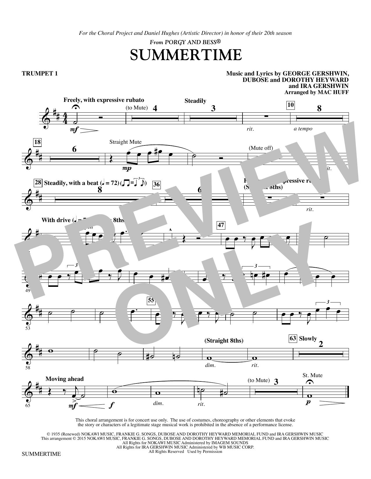 Summertime - Trumpet 1 (Choir Instrumental Pak)