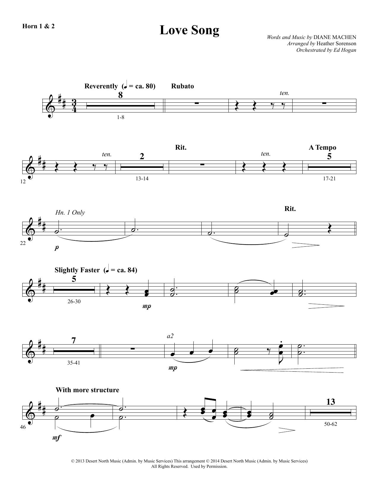 Love Song - F Horn 1 & 2 Sheet Music