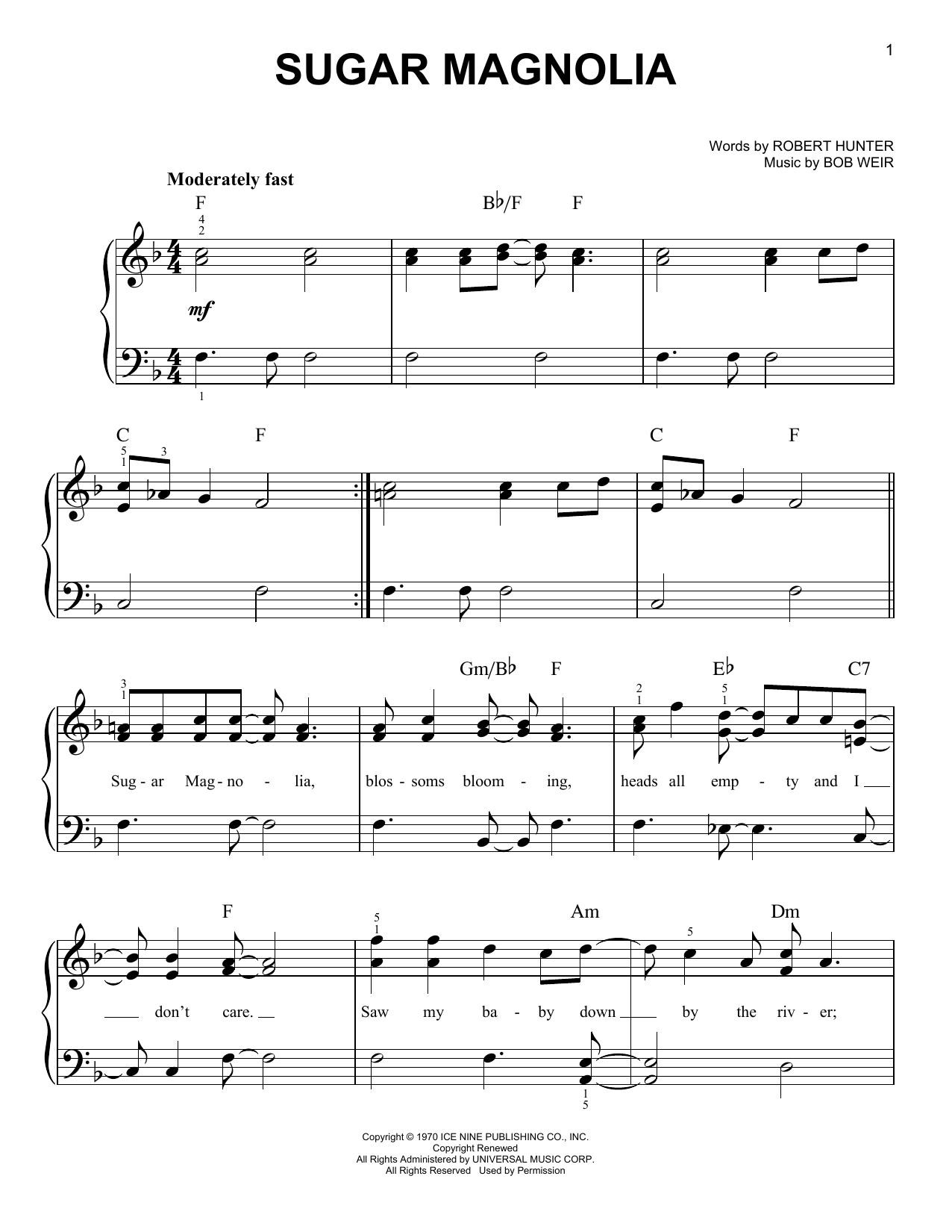 Sugar Magnolia (Easy Piano)