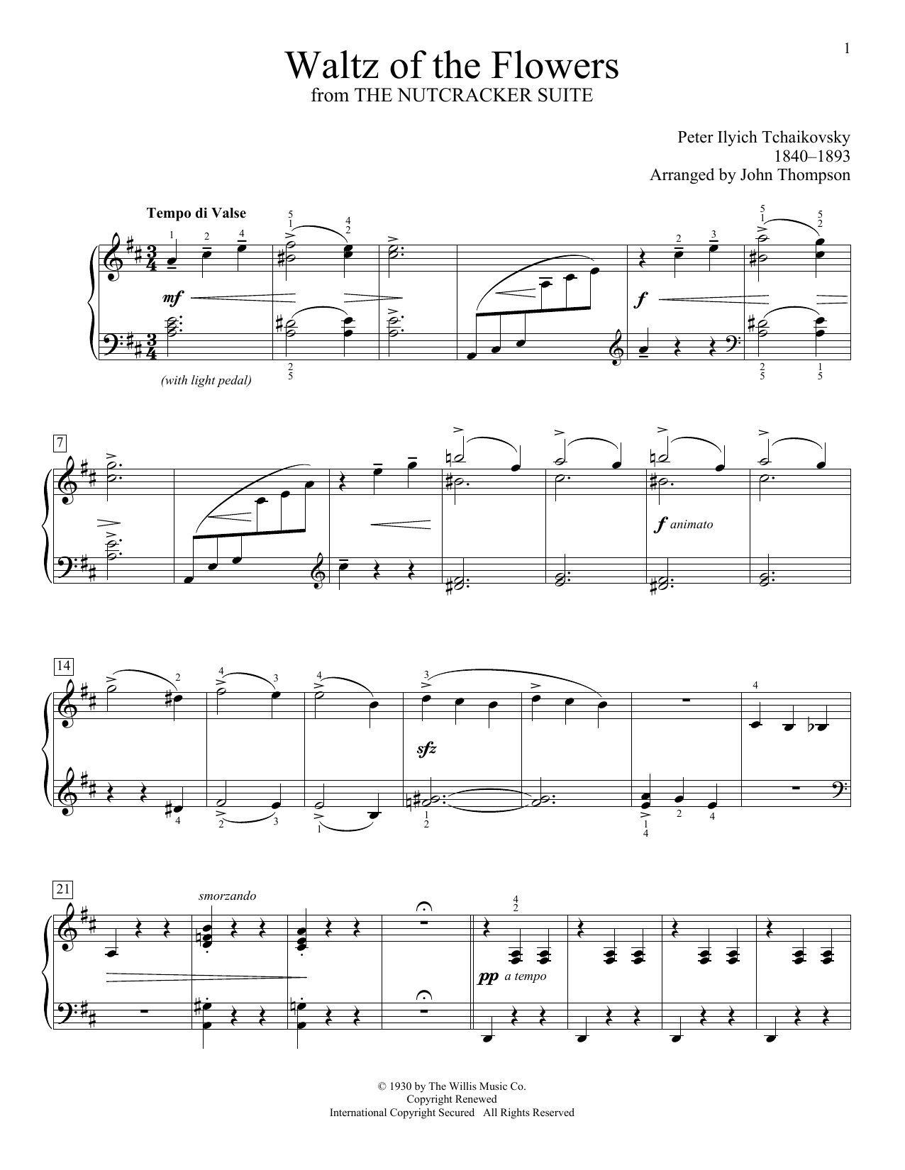 Waltz Of The Flowers Sheet Music