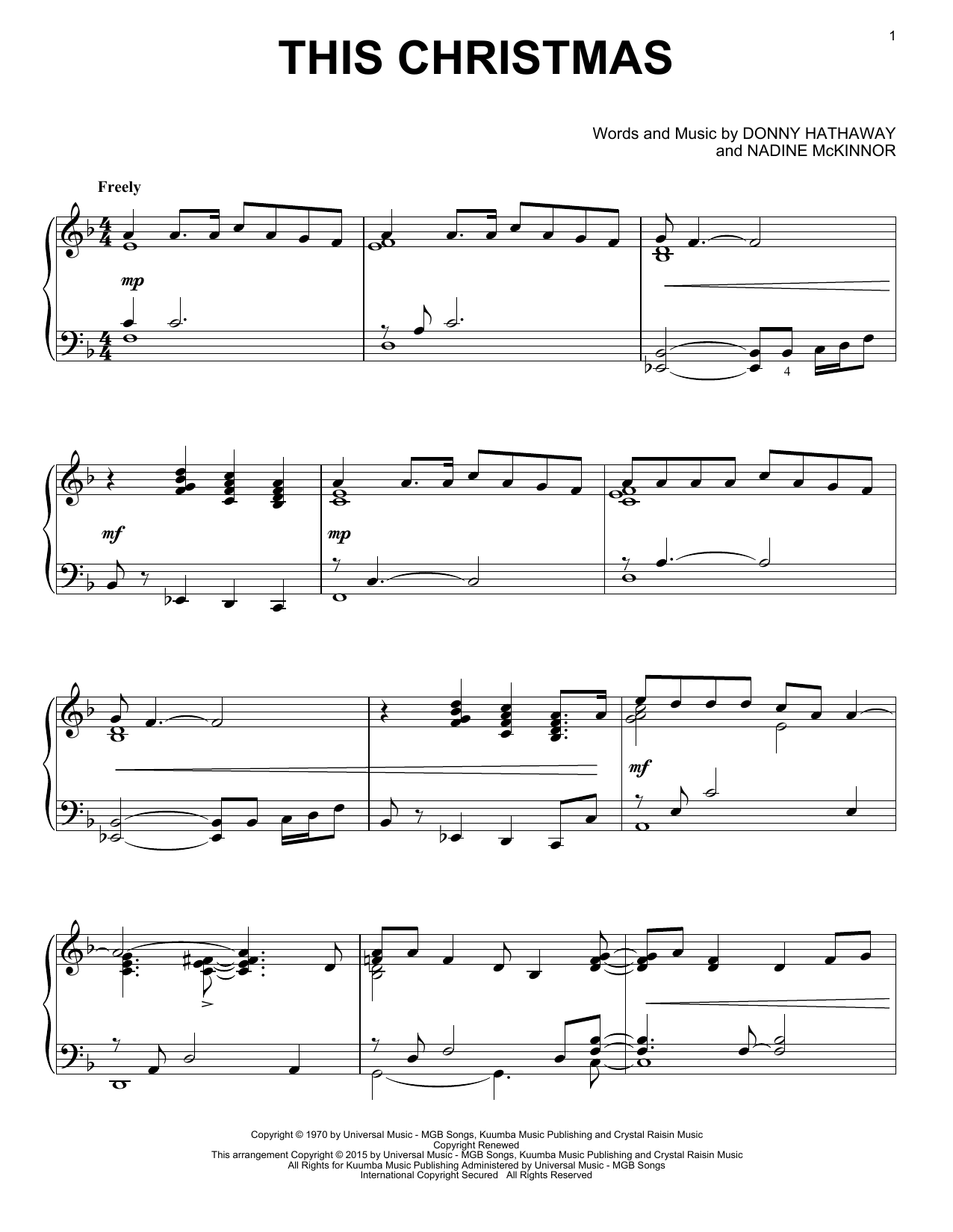 This Christmas Sheet Music