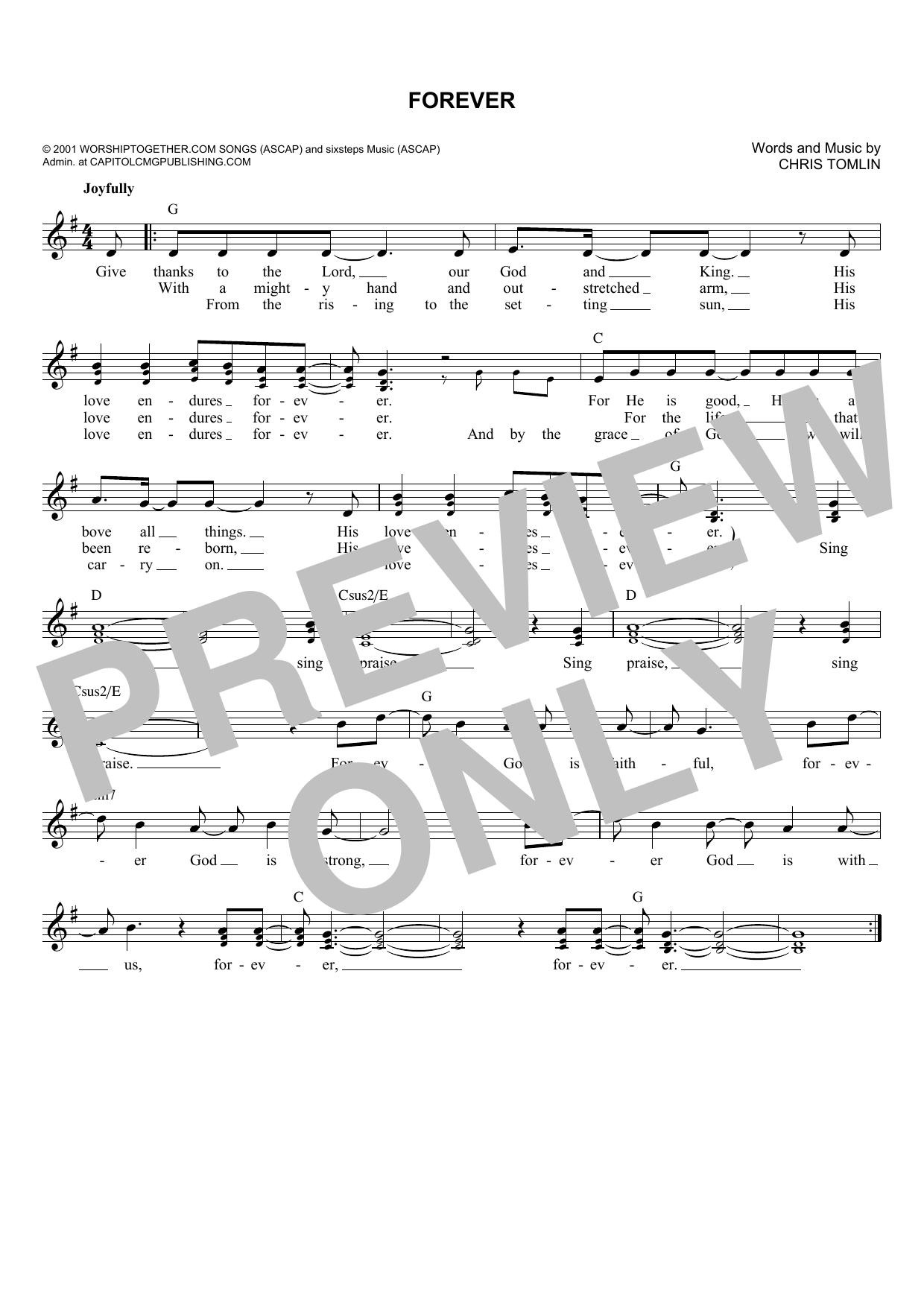 Forever (Lead Sheet / Fake Book)