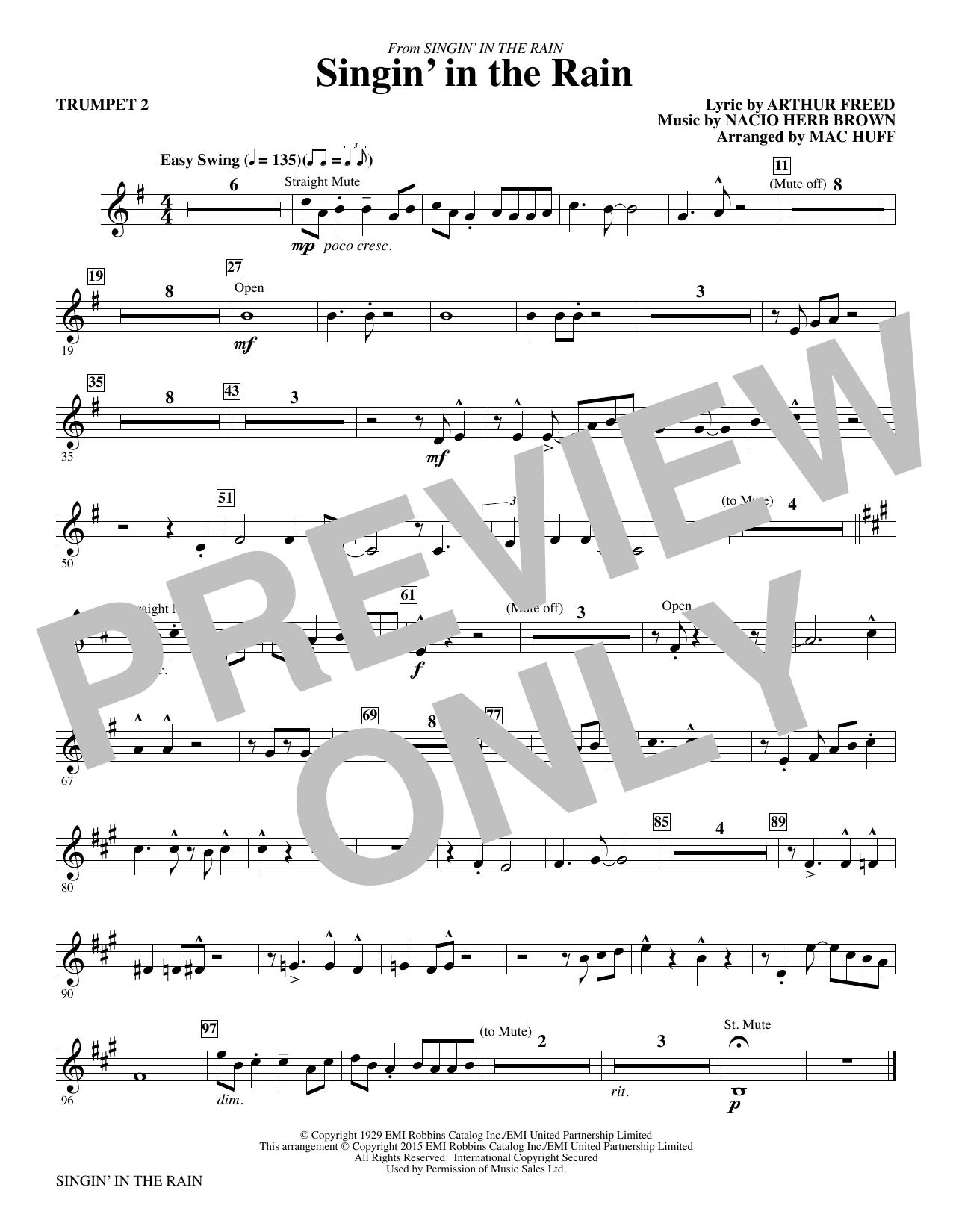 Singin' in the Rain (arr. Mac Huff) - Trumpet 2 (Choir Instrumental Pak)