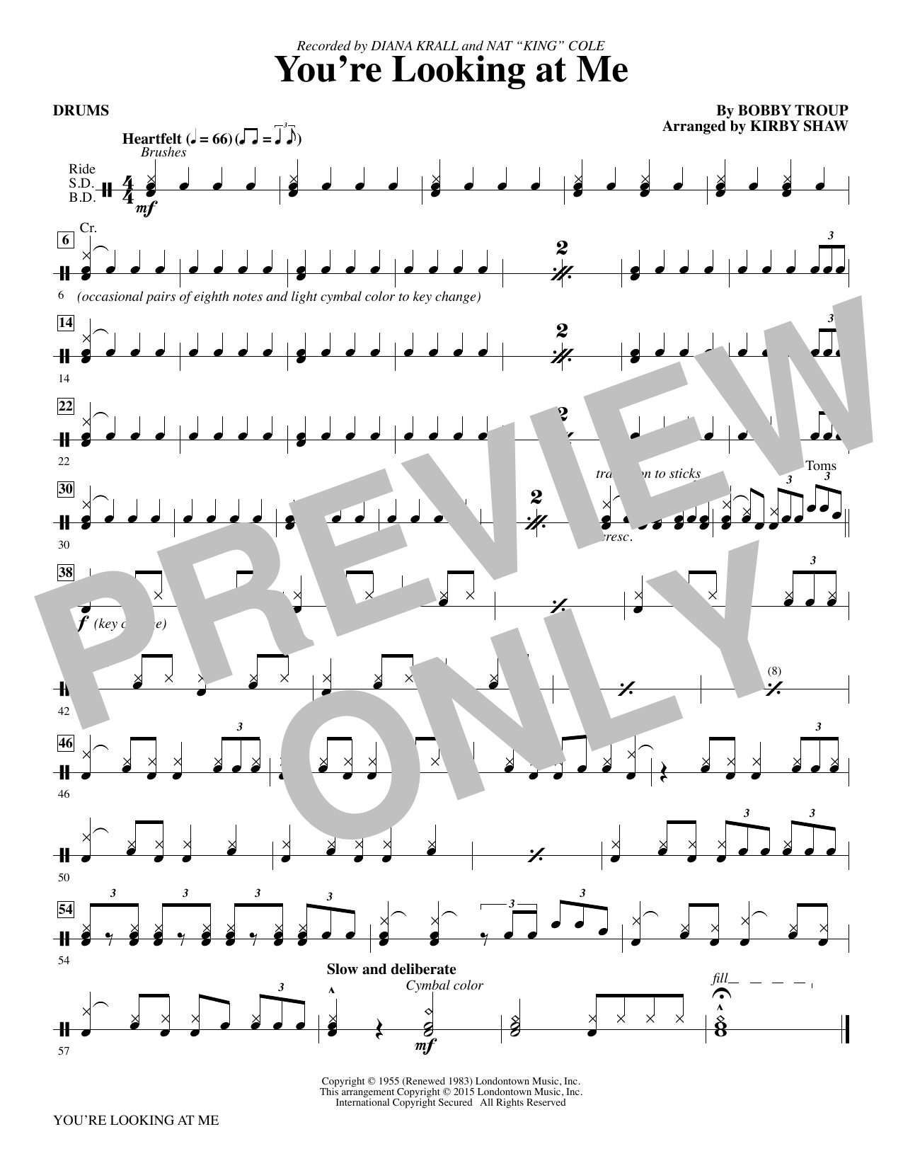 You're Looking At Me - Drums Sheet Music