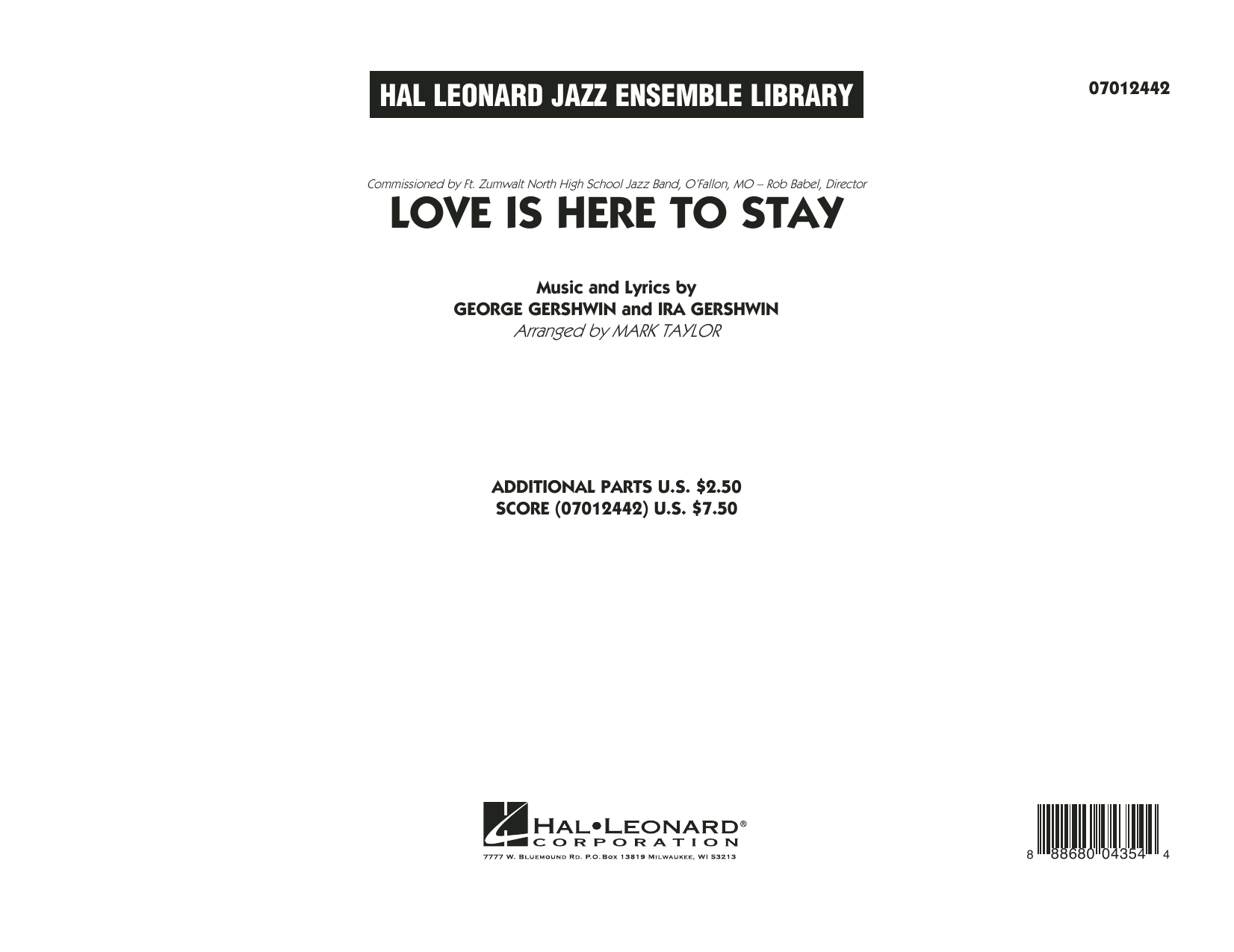 Love Is Here to Stay - Conductor Score (Full Score) (Jazz Ensemble)
