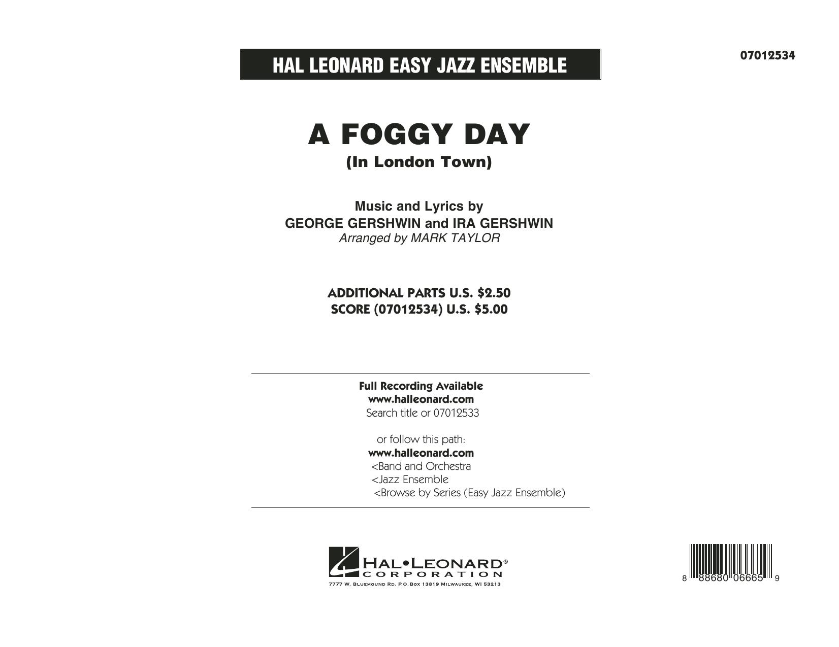 A Foggy Day (In London Town) - Conductor Score (Full Score) (Jazz Ensemble)