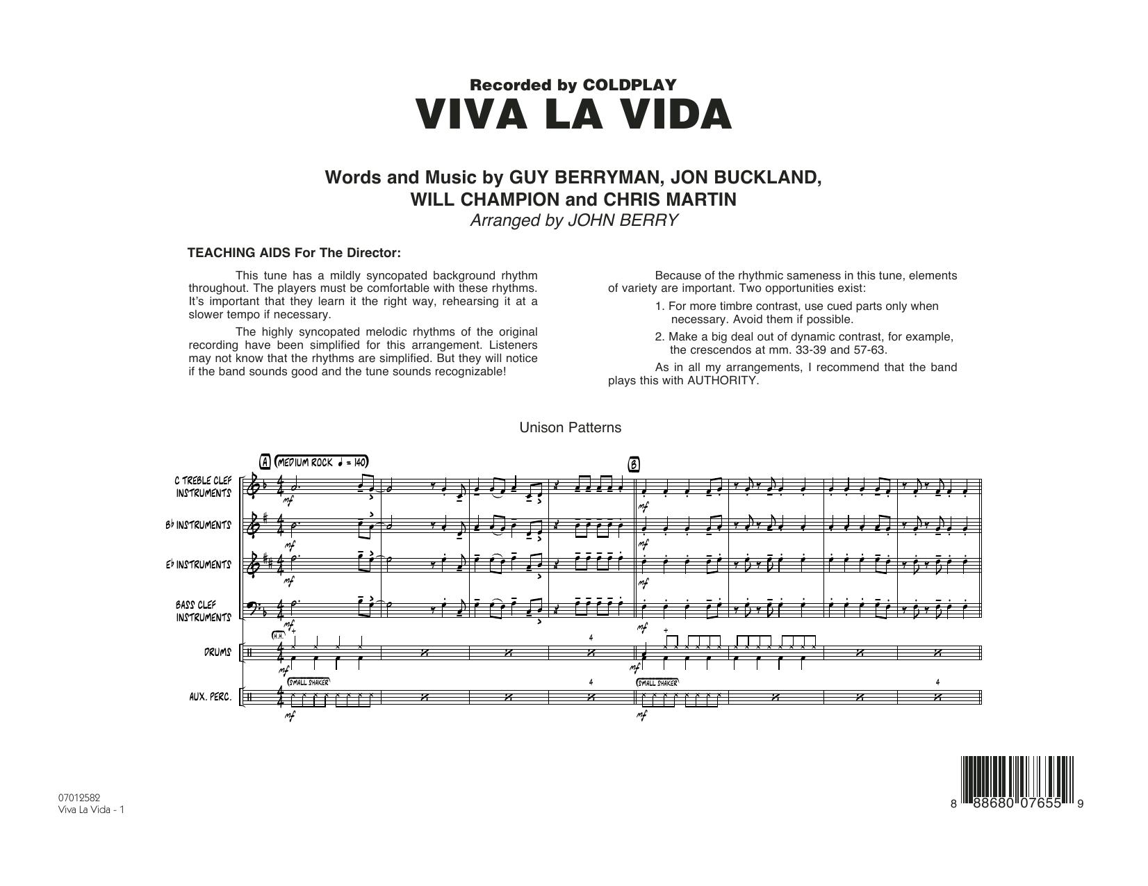 Viva La Vida - Conductor Score (Full Score) (Jazz Ensemble)