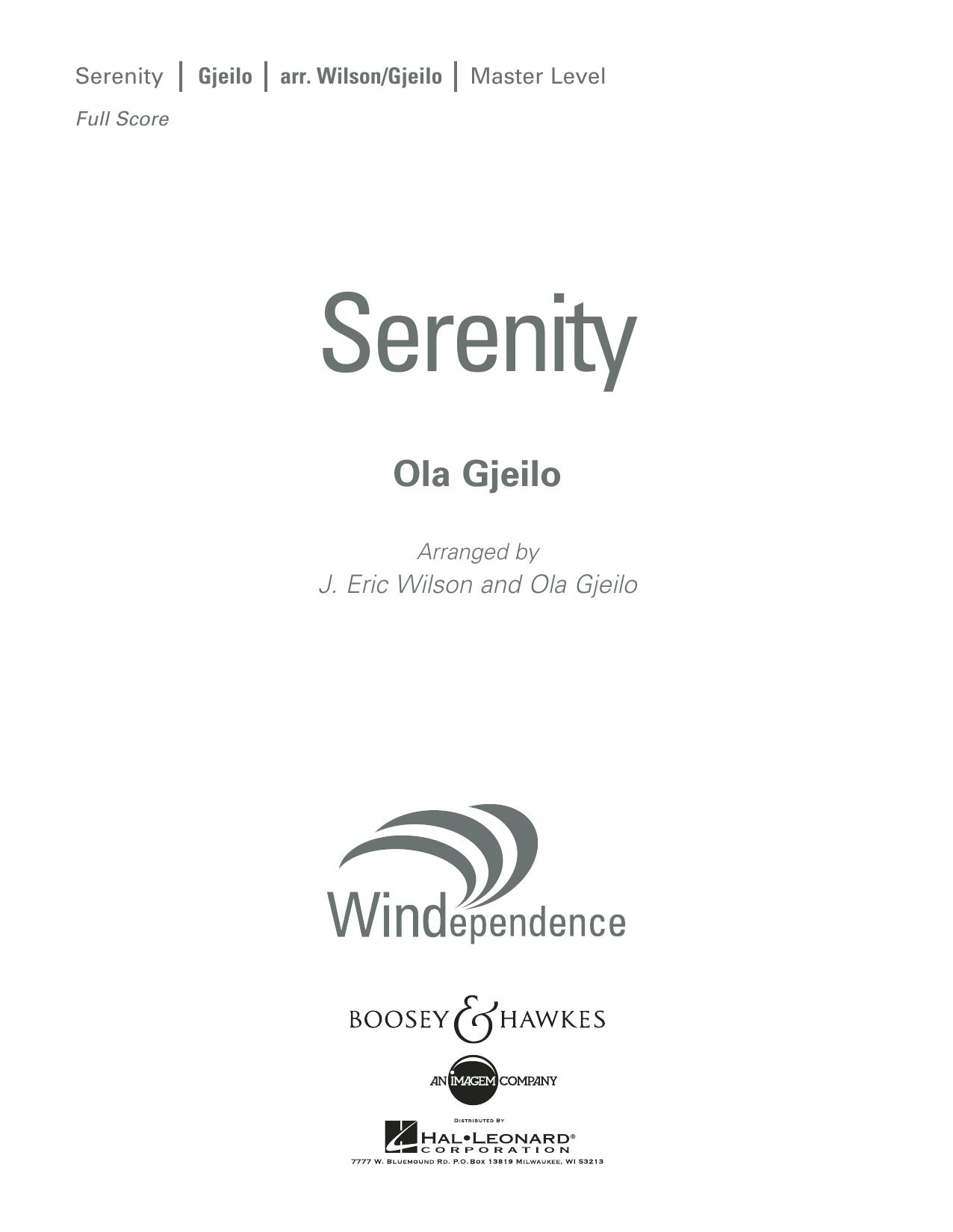 Serenity - Conductor Score (Full Score) (Concert Band)