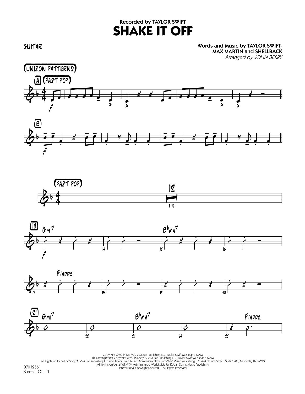 Shake It Off - Guitar (Jazz Ensemble)